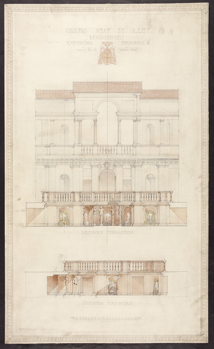 Famous Villa Di Papa Giulio, Rome – Glasgow School Of Art: Archives &amp Intended For Northfleet Rectangular Market Umbrellas (View 5 of 20)