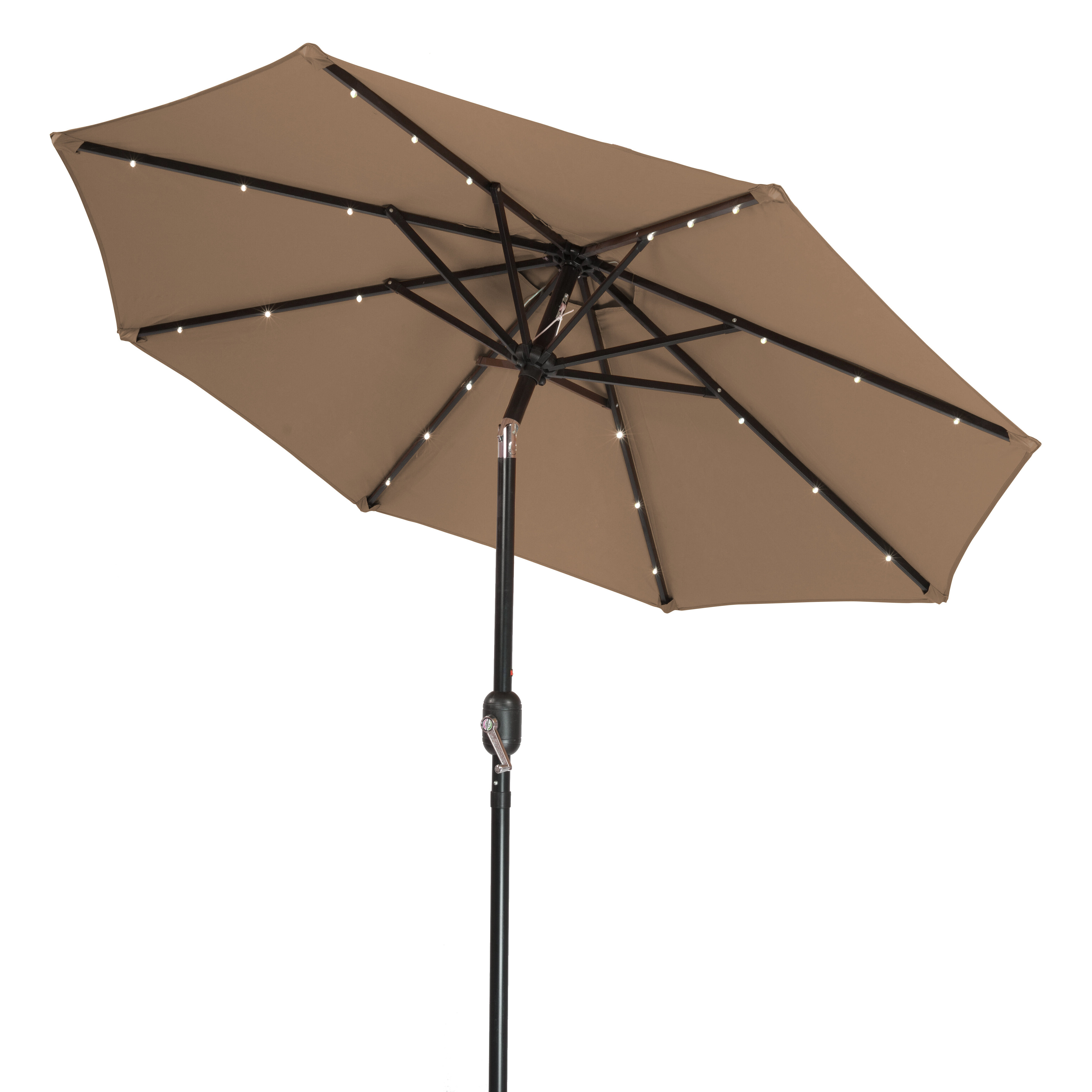 Famous Woll Lighted Market Umbrellas For Branam 7' Lighted Umbrella (View 8 of 20)