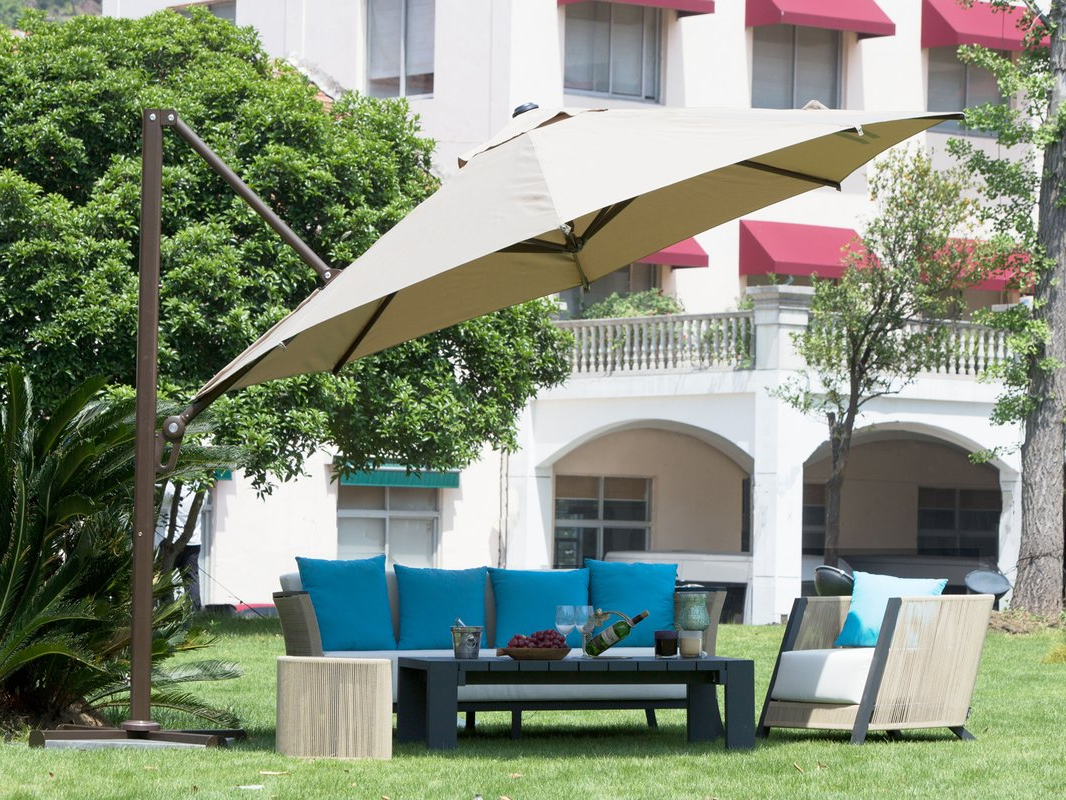 Fashionable 12 Best Patio Umbrella Reviews: Top Quality Outdoor Umbrellas In 2019 With Wardingham Square Cantilever Umbrellas (View 5 of 20)