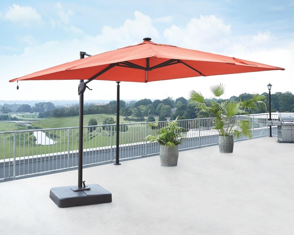 Fashionable Alyssa Cantilever Umbrellas For Oakengrove – Multi – Large Cantilever Umbrella (View 11 of 20)