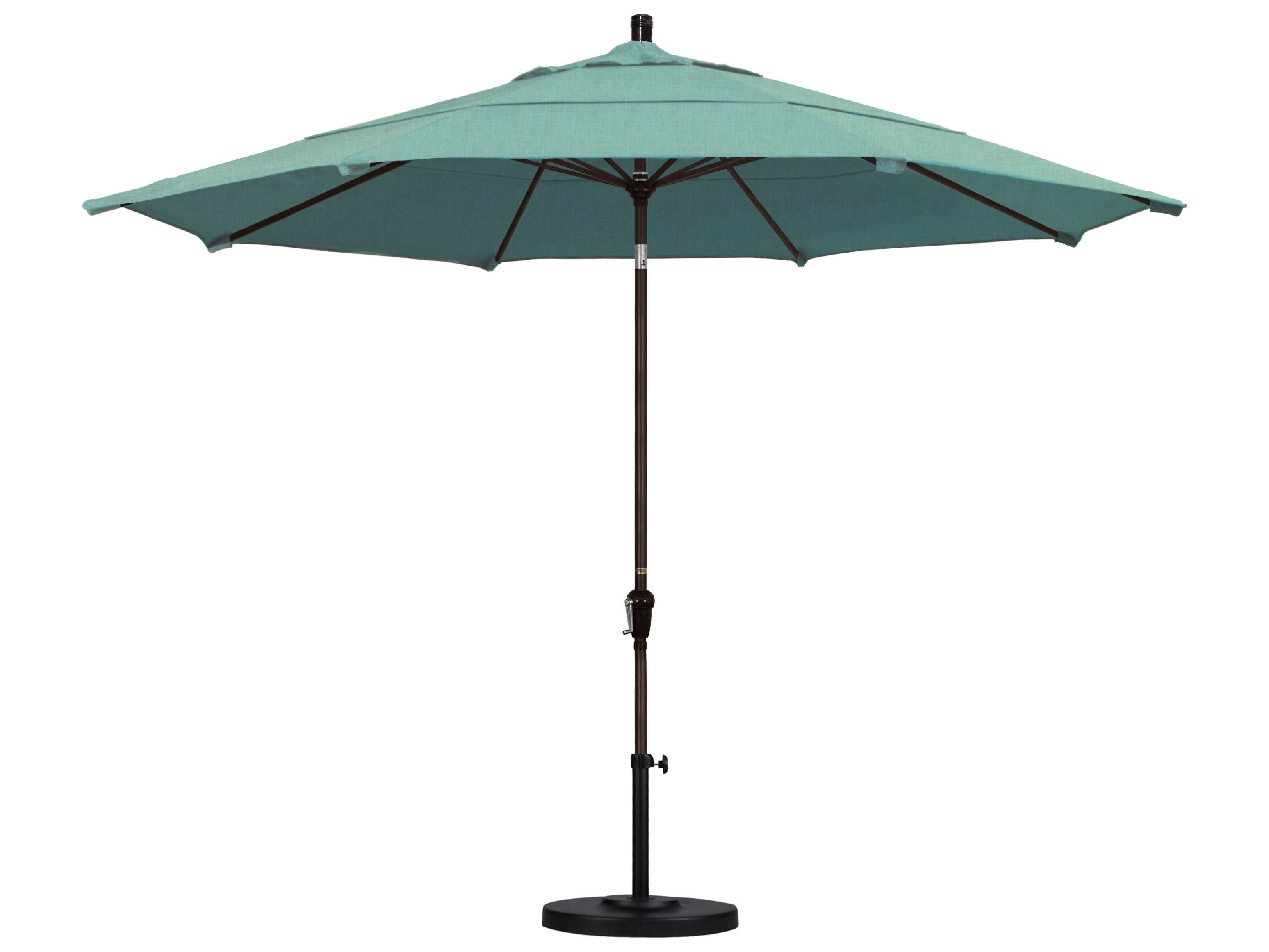 Favorite California Umbrella Sunset Series 11 Foot Octagon Market Aluminum Umbrella With Crank Lift System Regarding Haverhill Umbrellas (View 8 of 20)