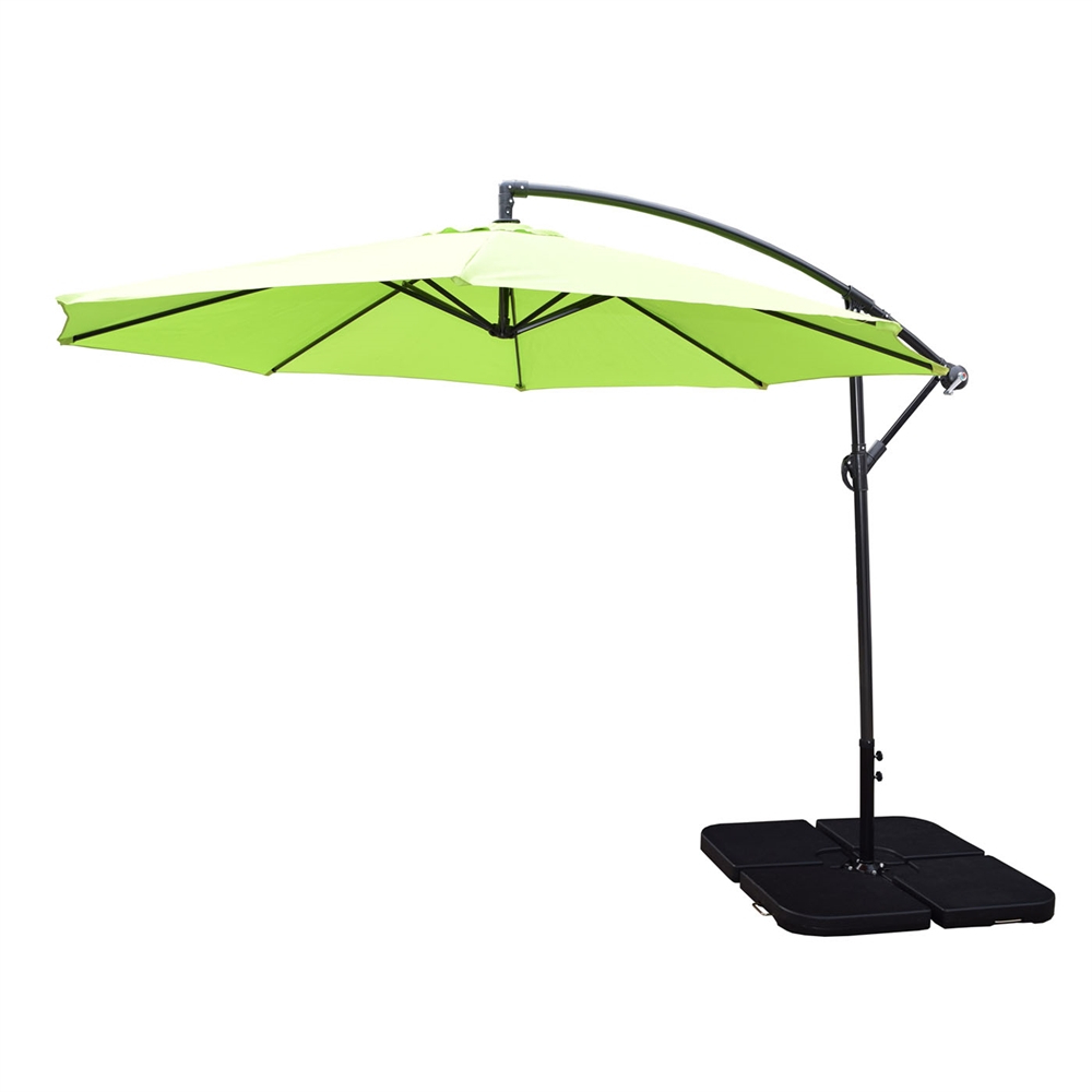 Favorite Cantilever Umbrellas Within Oakland Living 10 Ft Cantilever Umbrella With Fillable Base Weights (View 9 of 20)