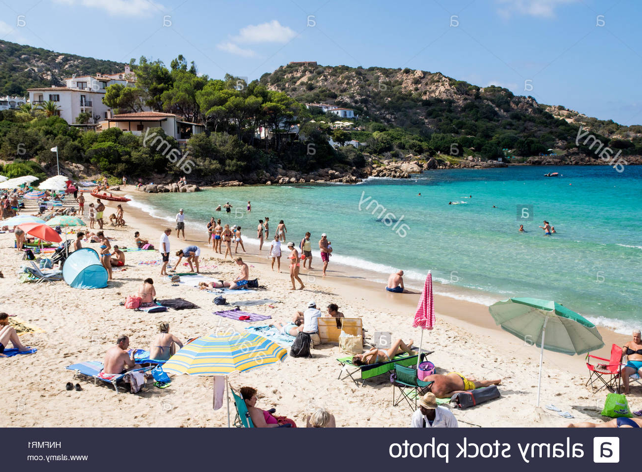 Favorite Capra Beach Umbrellas For Sardinia Gallura Beach Stock Photos & Sardinia Gallura Beach Stock (View 10 of 20)