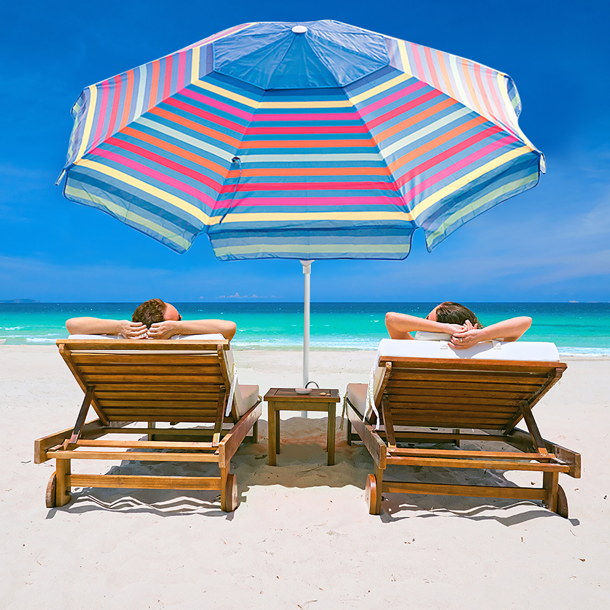 Favorite Ferndown 7' Beach Umbrella In Capra Beach Umbrellas (View 11 of 20)