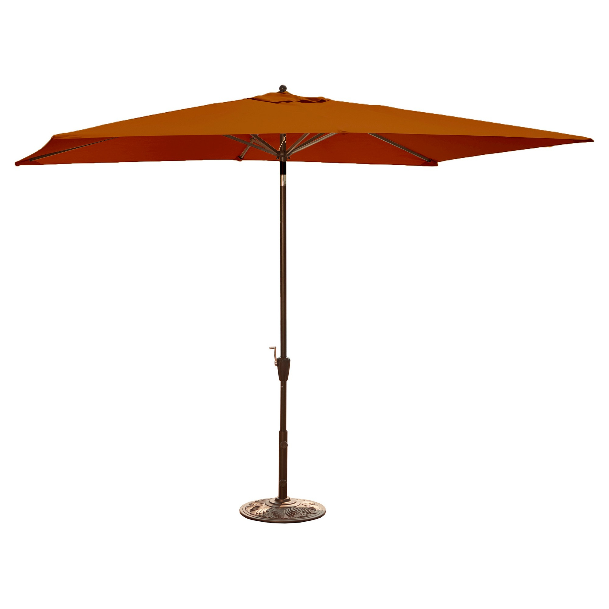 Favorite Herlinda Solar Lighted Market Umbrellas In Island Umbrella Adriatic Market Umbrella In Terra Cotta Olefin – (View 10 of 20)