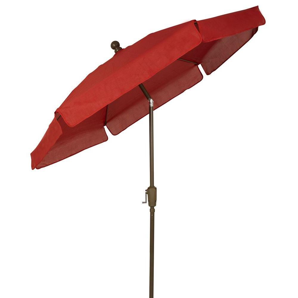 Favorite Market Umbrellas – Patio Umbrellas – The Home Depot Throughout Jericho Market Umbrellas (View 4 of 20)