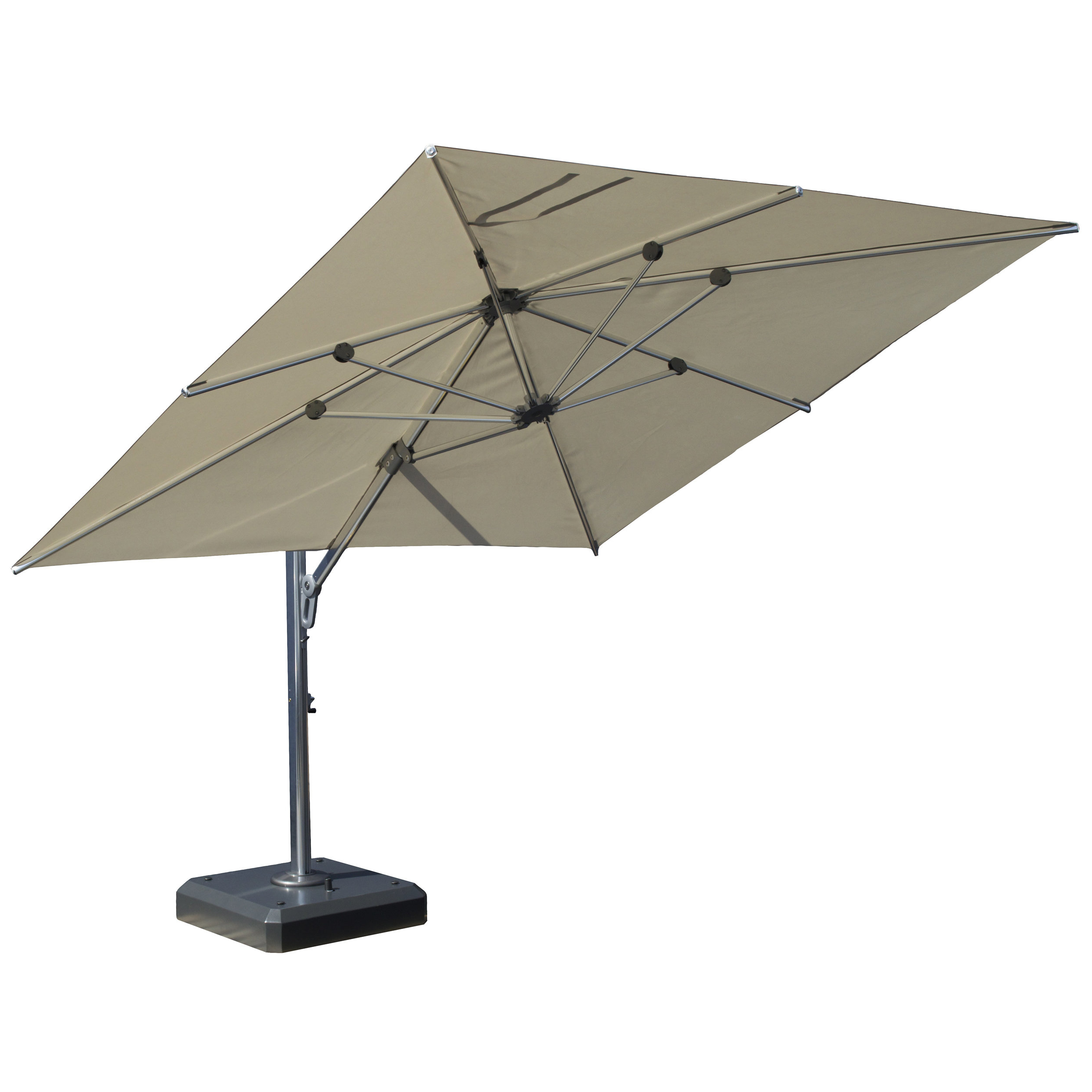 Favorite Nasiba Square Cantilever Sunbrella Umbrellas Intended For 10'x12' Rectangular Cantilever Umbrella (View 14 of 20)