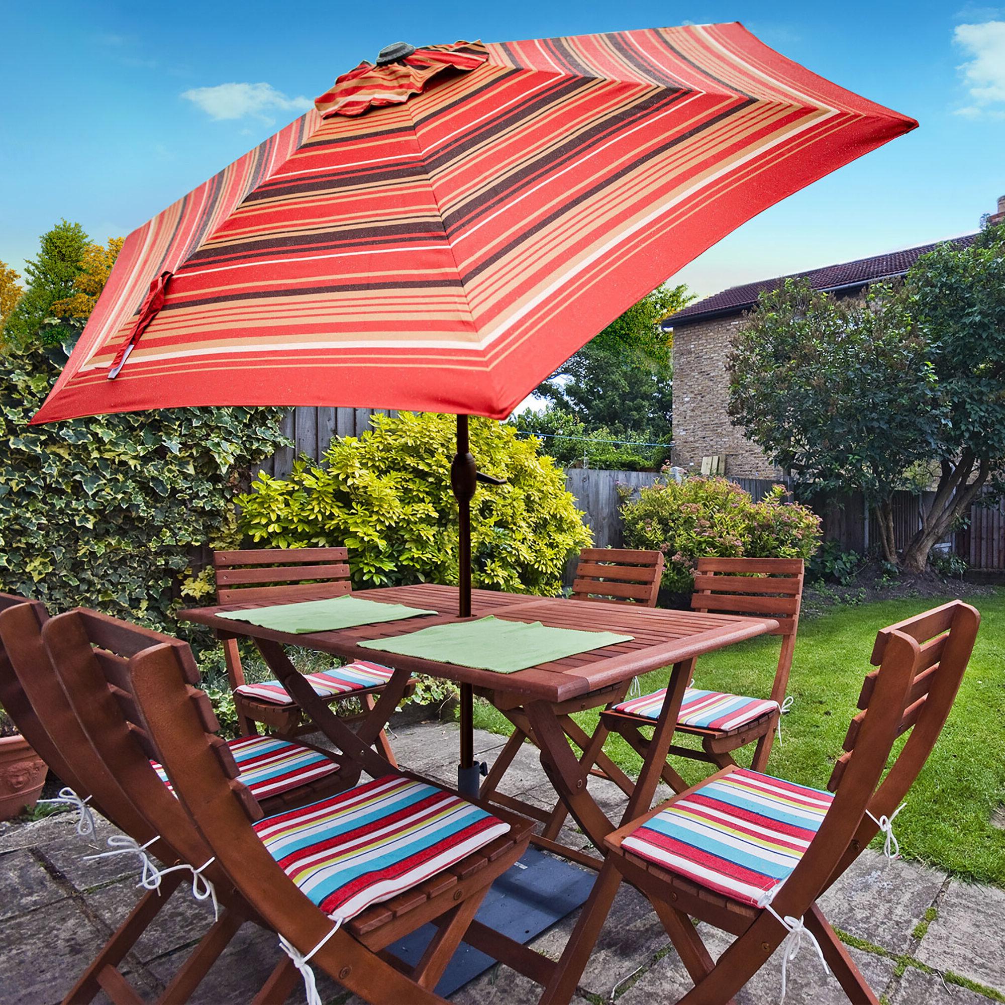 Folkeste 9' Market Umbrella Regarding Well Liked Fleetwood Market Umbrellas (View 3 of 20)