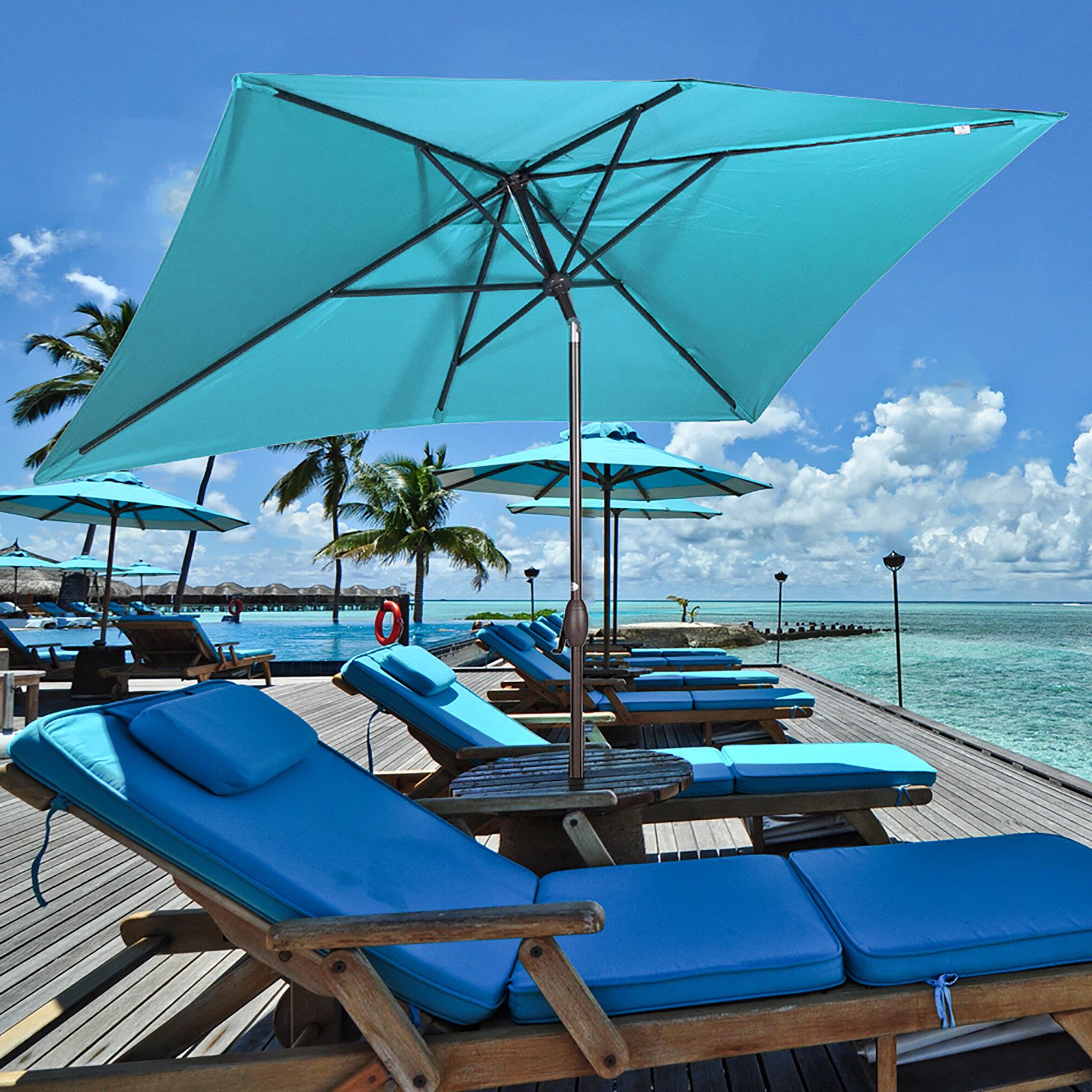 Fordbridge 7' X 10' Rectangular Market Umbrella For Favorite Bonita Rectangular Market Umbrellas (View 11 of 20)