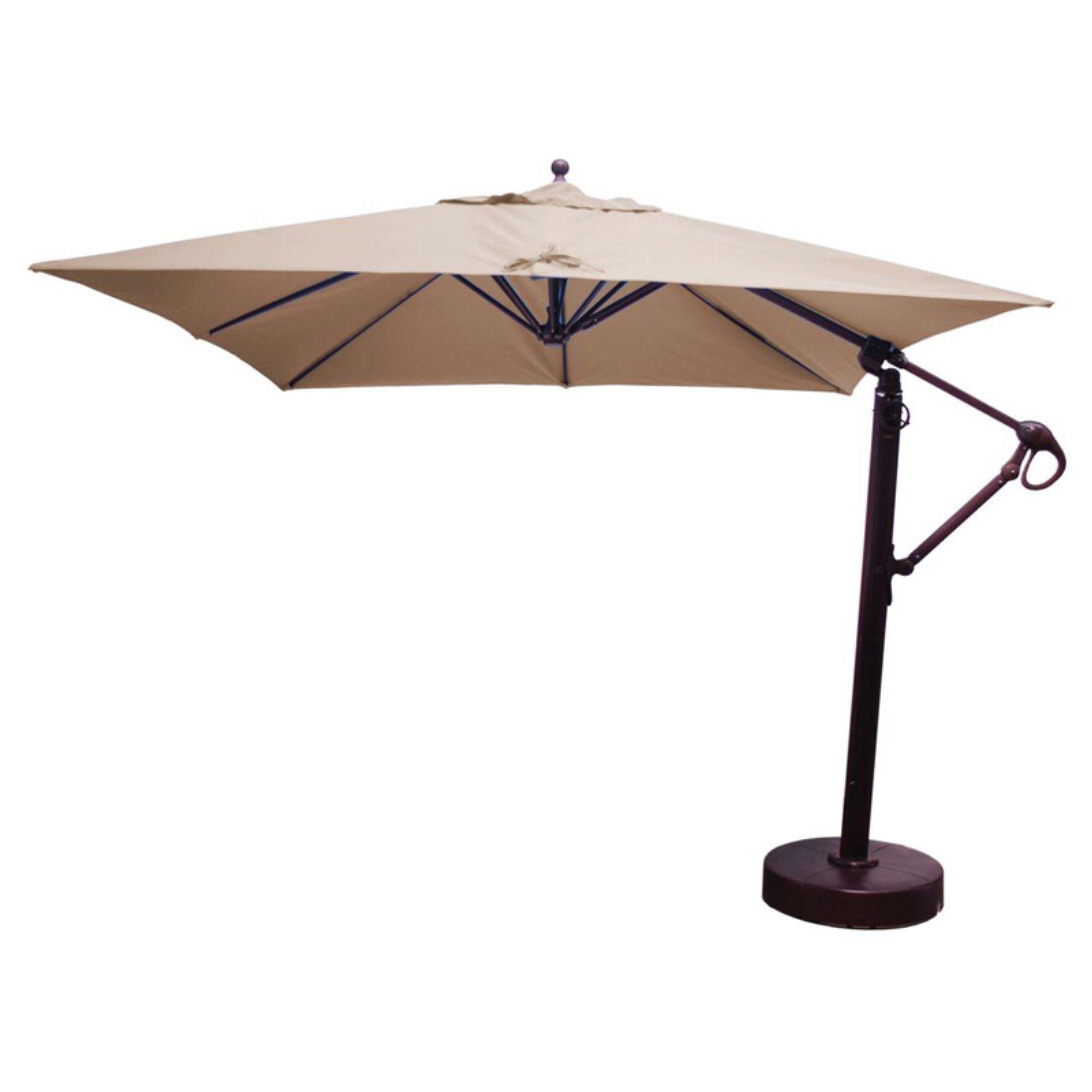 Galtech 10 Ft. Square Cantilever Sunbrella Aluminum Patio Umbrella Inside Well Liked Krystal Square Cantilever Sunbrella Umbrellas (Gallery 15 of 20)