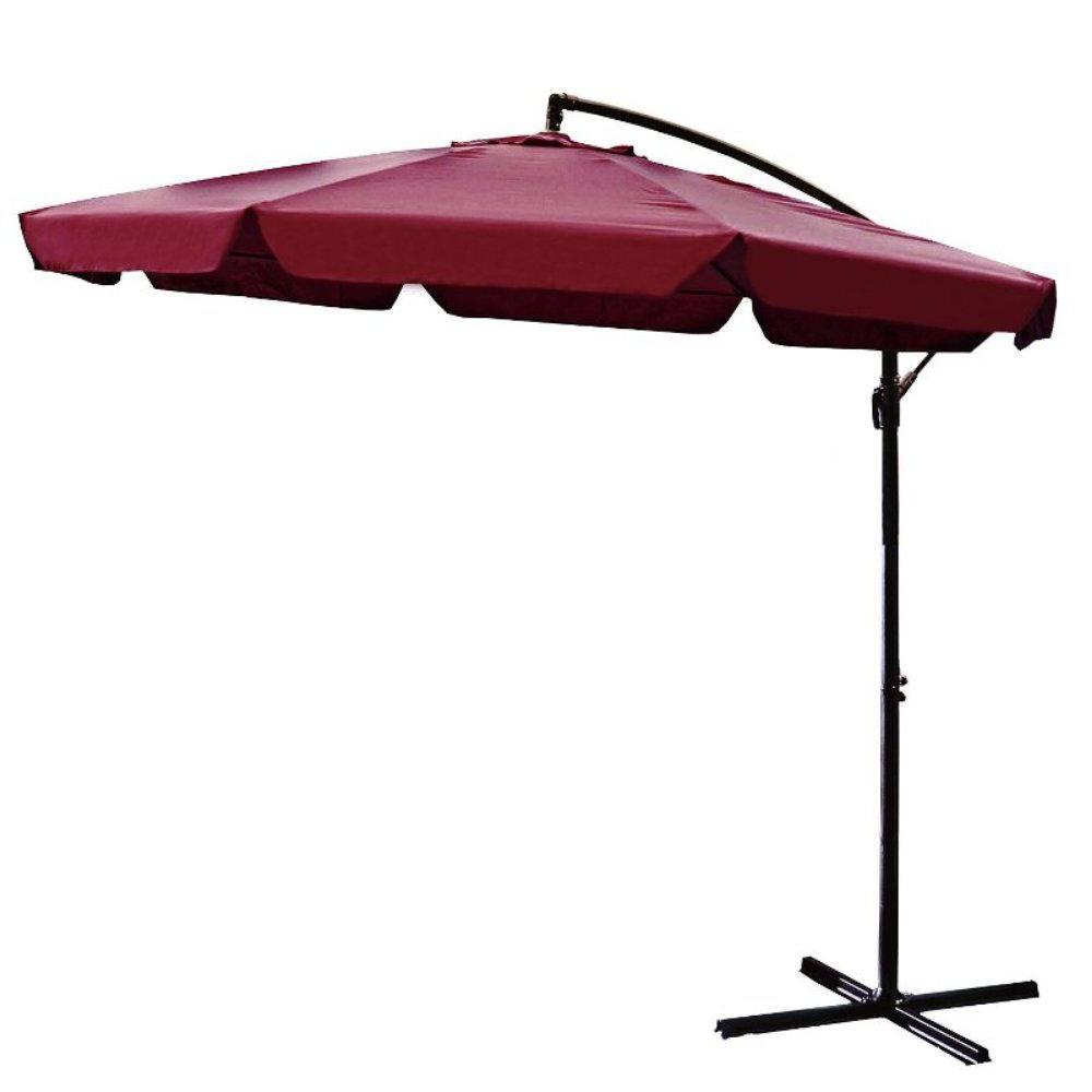 Griselda Solar Lighted  Rectangular Market Umbrellas For Recent Solar Lighted – Patio Umbrellas – Patio Furniture – The Home Depot (Gallery 13 of 20)