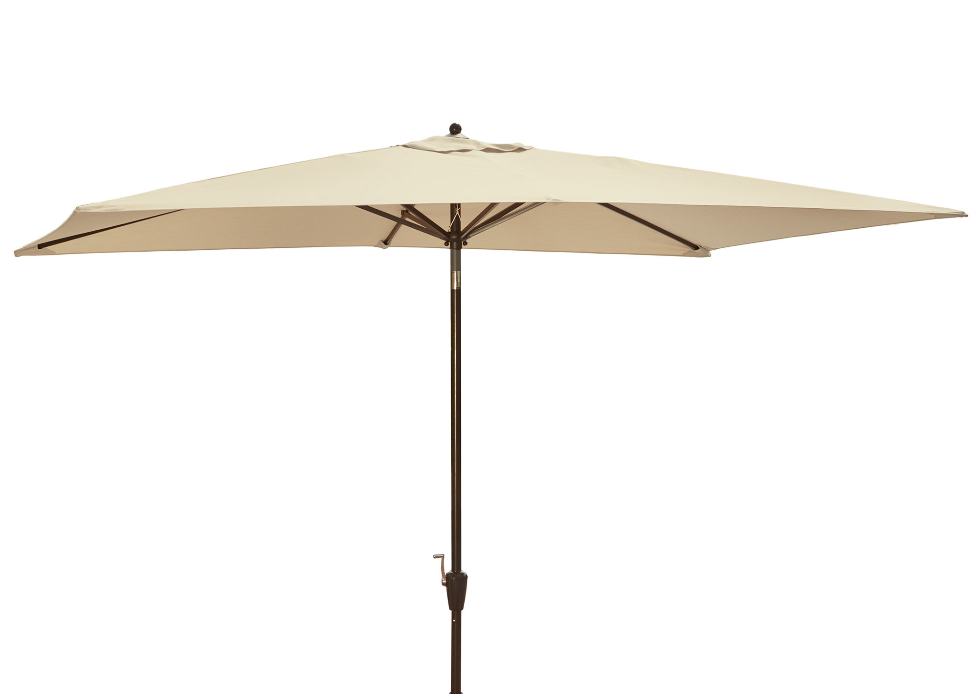 Griselda Solar Lighted  Rectangular Market Umbrellas Within Preferred Darby Home Co Dena 10' X 6.5' Rectangular Market Umbrella & Reviews (Gallery 6 of 20)