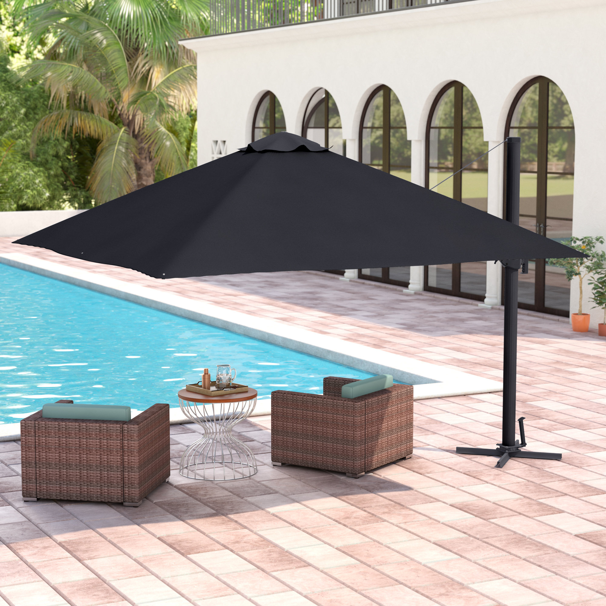Grote Liberty Aluminum Square Cantilever Umbrella For Well Known Maidste Square Cantilever Umbrellas (View 16 of 20)