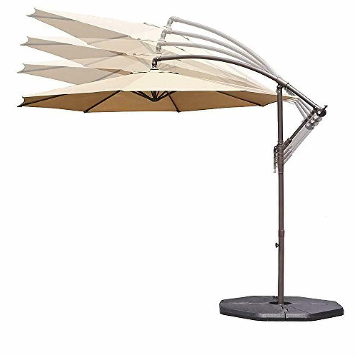Grote Liberty Aluminum Square Cantilever Umbrellas With Regard To Well Liked Le Papillon 10 Ft Offset Hanging Patio Umbrella Aluminum Outdoor Cantilever (View 4 of 20)