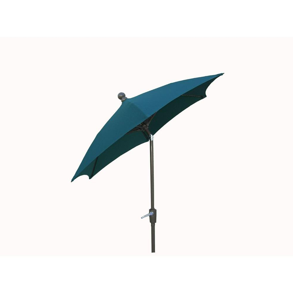 Half Round Market Umbrellas Regarding Recent Fiberbuilt Umbrellas 9 Ft. Patio Umbrella In Forest Green (Gallery 10 of 20)