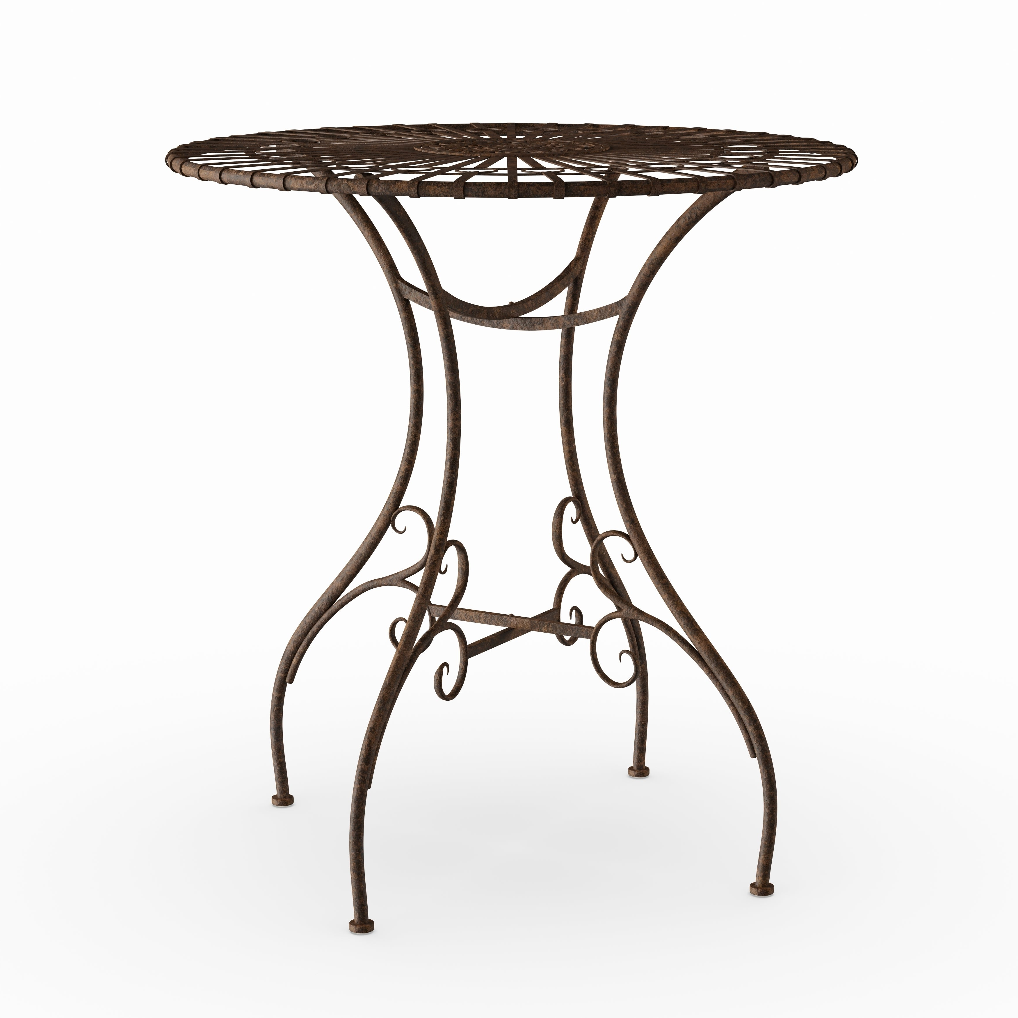Handmade Rustic Rust Patina Garden Table (china) With Current Windell Square Cantilever Umbrellas (View 19 of 20)