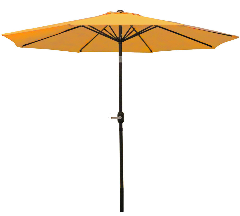 Hapeville Market Umbrellas Intended For Well Known Delaplaine 9' Market Umbrella (View 18 of 20)