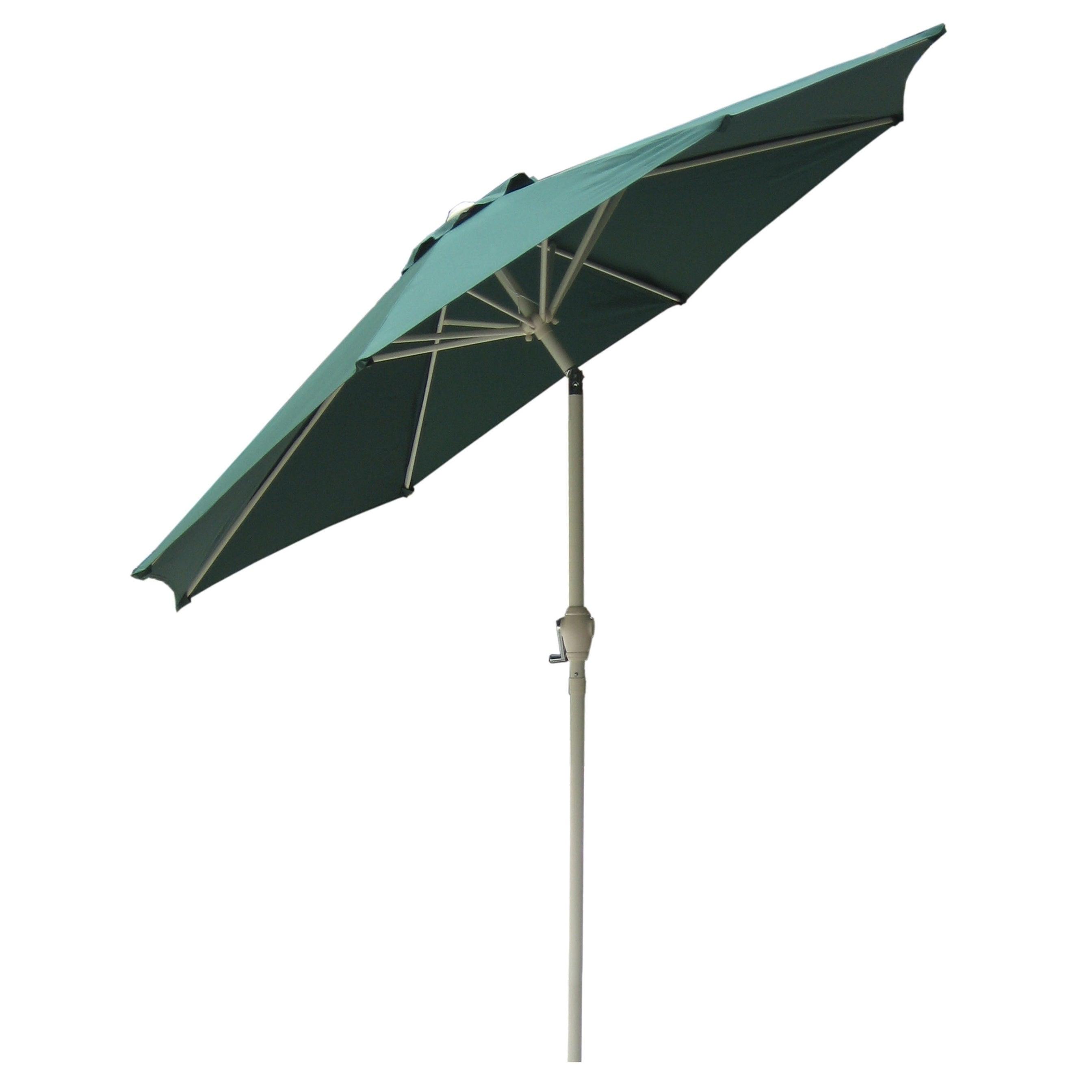 Havenside Home La Porte Market 9 Foot Outdoor Umbrella With Steel Pole For Most Popular Alder Half Round Outdoor Patio Market Umbrellas (View 10 of 20)