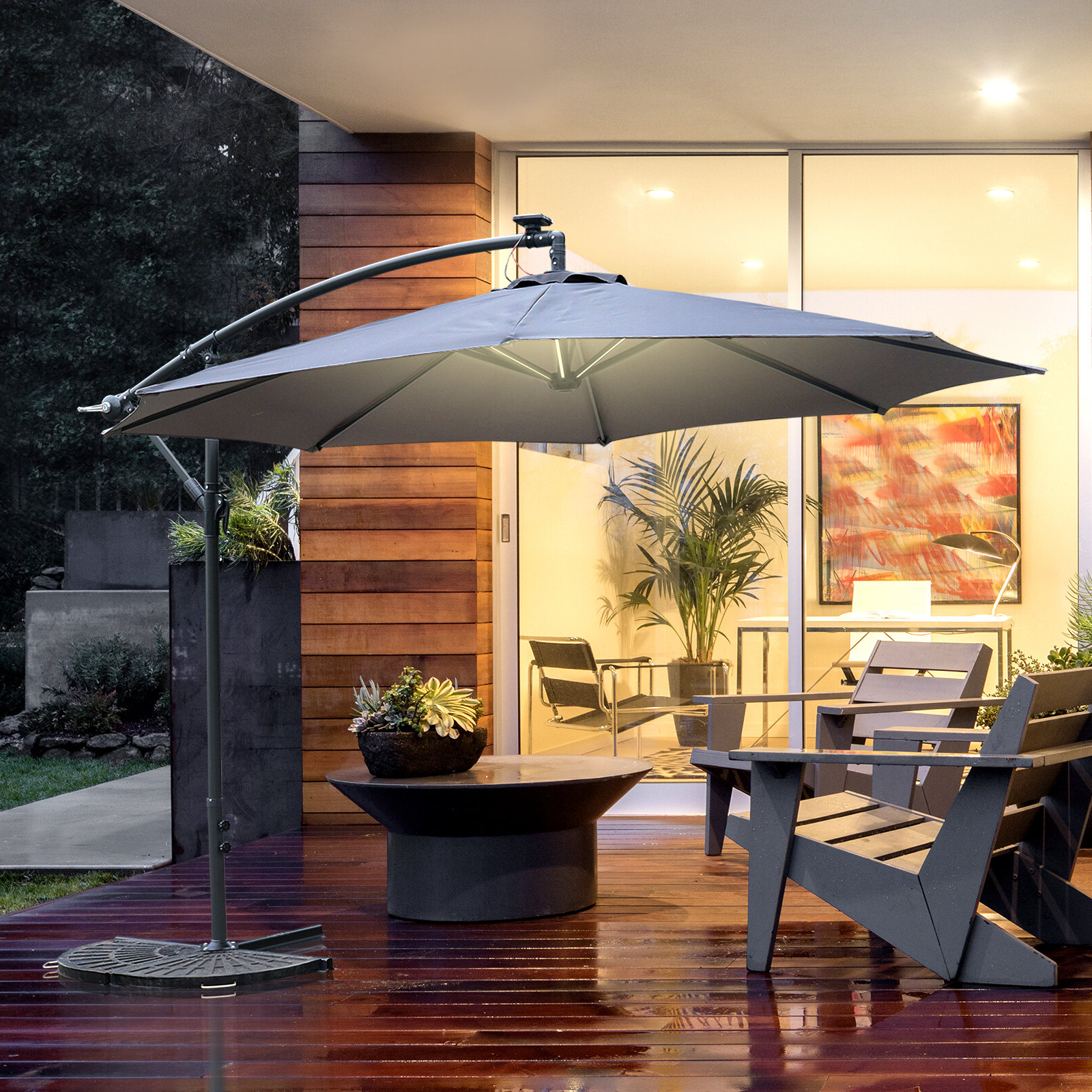 Haverhill Umbrellas For Popular Stamford 10' Cantilever Umbrella (View 14 of 20)