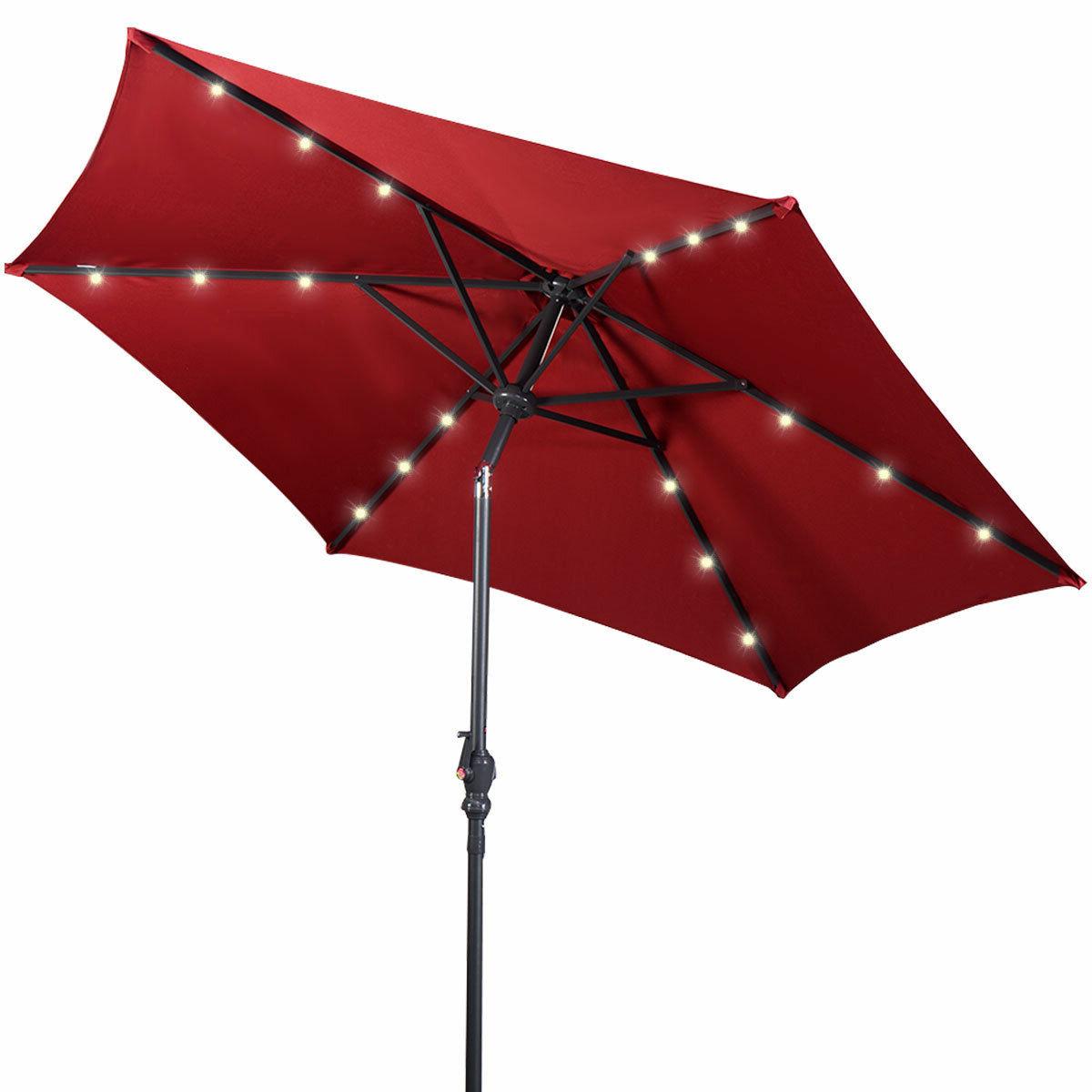 Herlinda Solar Lighted Market Umbrellas Inside Fashionable Eastwood 9' Market Umbrella (Gallery 18 of 20)