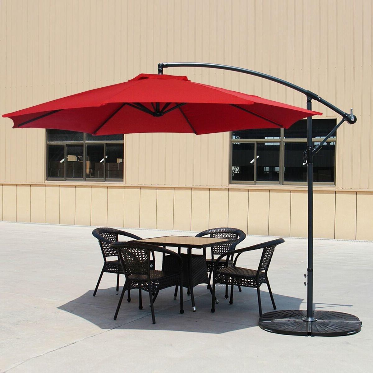 Hilma Solar Cantilever Umbrellas In Most Recent Carillon 10' Cantilever Umbrella (Gallery 3 of 20)