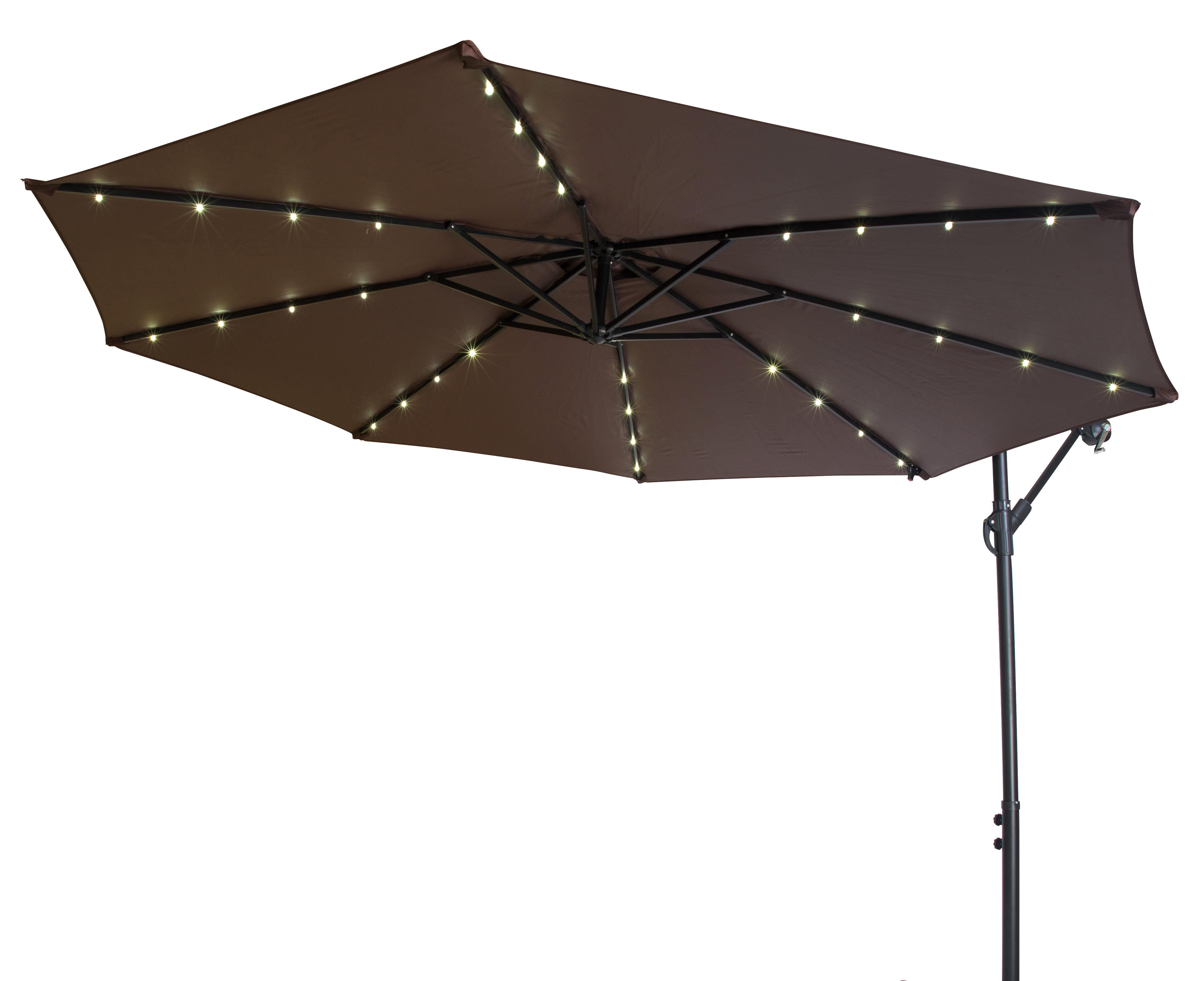 Hilma Solar Cantilever Umbrellas With Regard To 2019 Offset Patio 10' Cantilever Umbrella (View 8 of 20)
