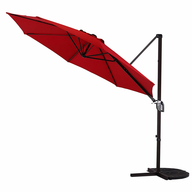 Hilma Solar Cantilever Umbrellas With Regard To Popular Tayla 10' Cantilever Umbrella (View 9 of 20)