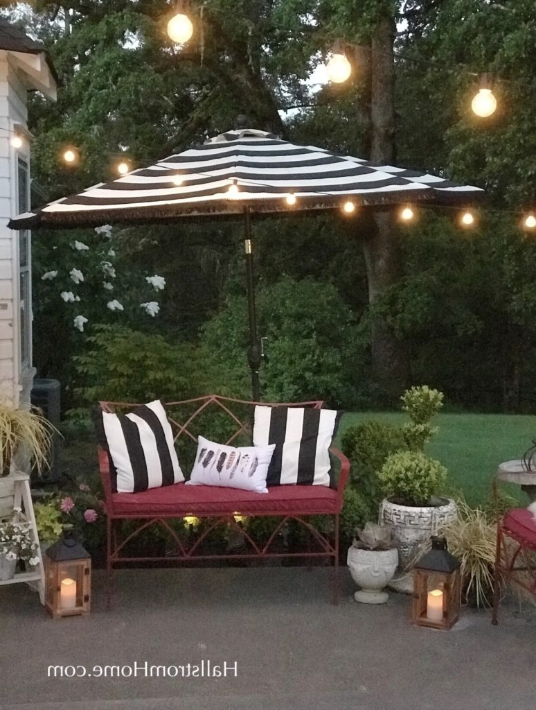 How To Add Fringe To A Outdoor Umbrella – Hallstrom Home Throughout Preferred Hurt Market Umbrellas (View 4 of 20)