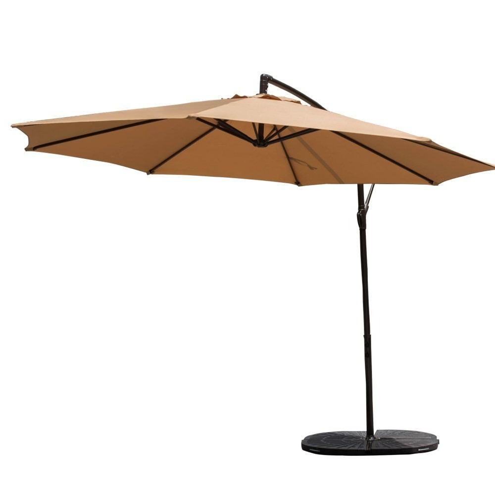 Hurt Market Umbrellas In Most Recently Released Shop For 10 Feet Patio Umbrella Aluminum Table Market Hanging (View 2 of 20)