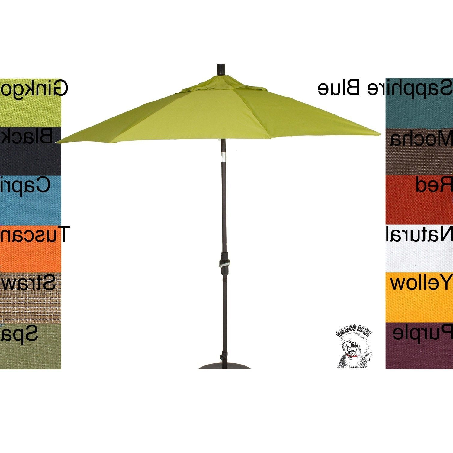 Hyperion Market Umbrellas For Widely Used Phat Tommy 9 Foot Pacifica Fabric Market Patio Umbrella #331 (Gallery 5 of 20)