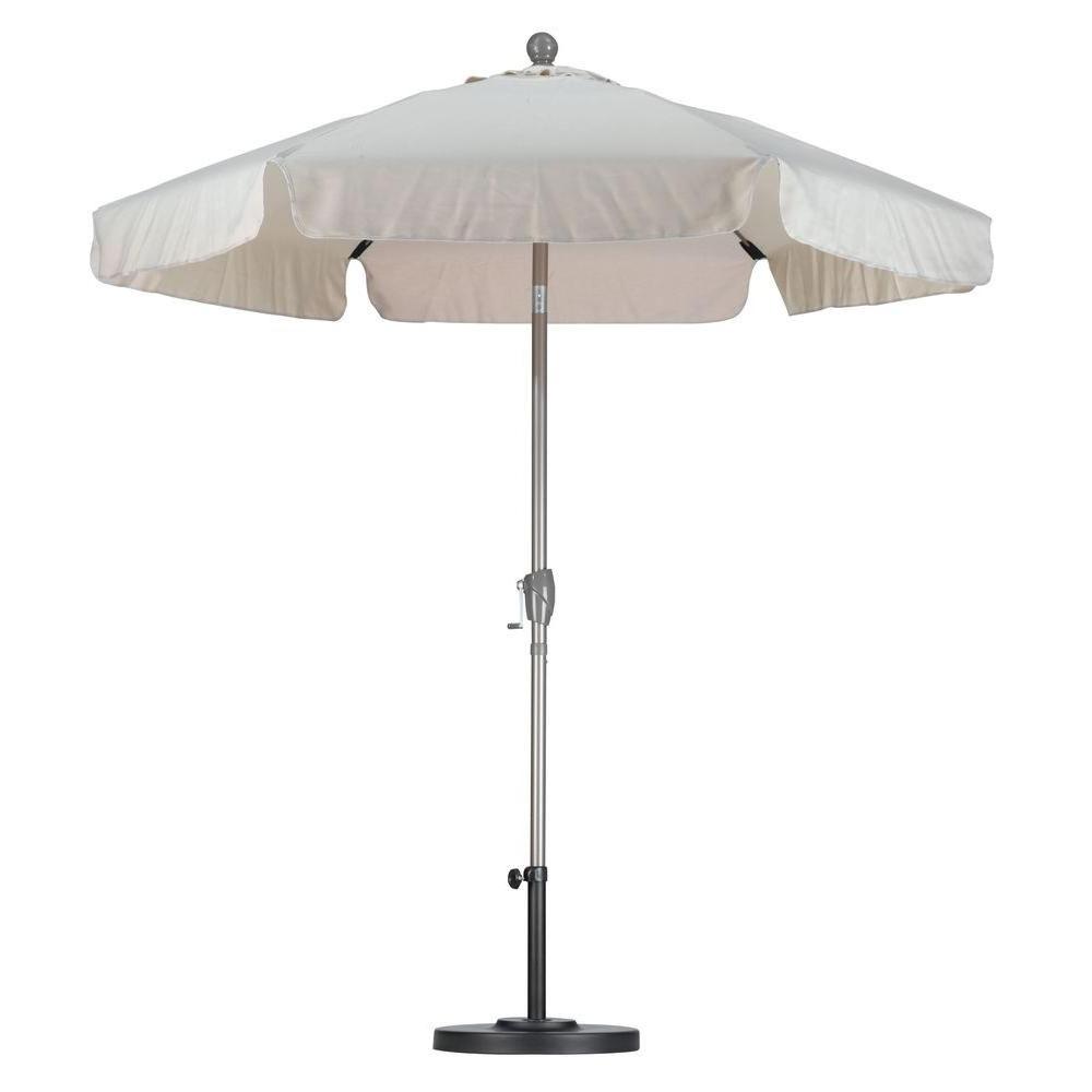 Hyperion Market Umbrellas Intended For Latest California Umbrella 7 1/2 Ft. Fiberglass Push Tilt Patio Umbrella In (Gallery 15 of 20)