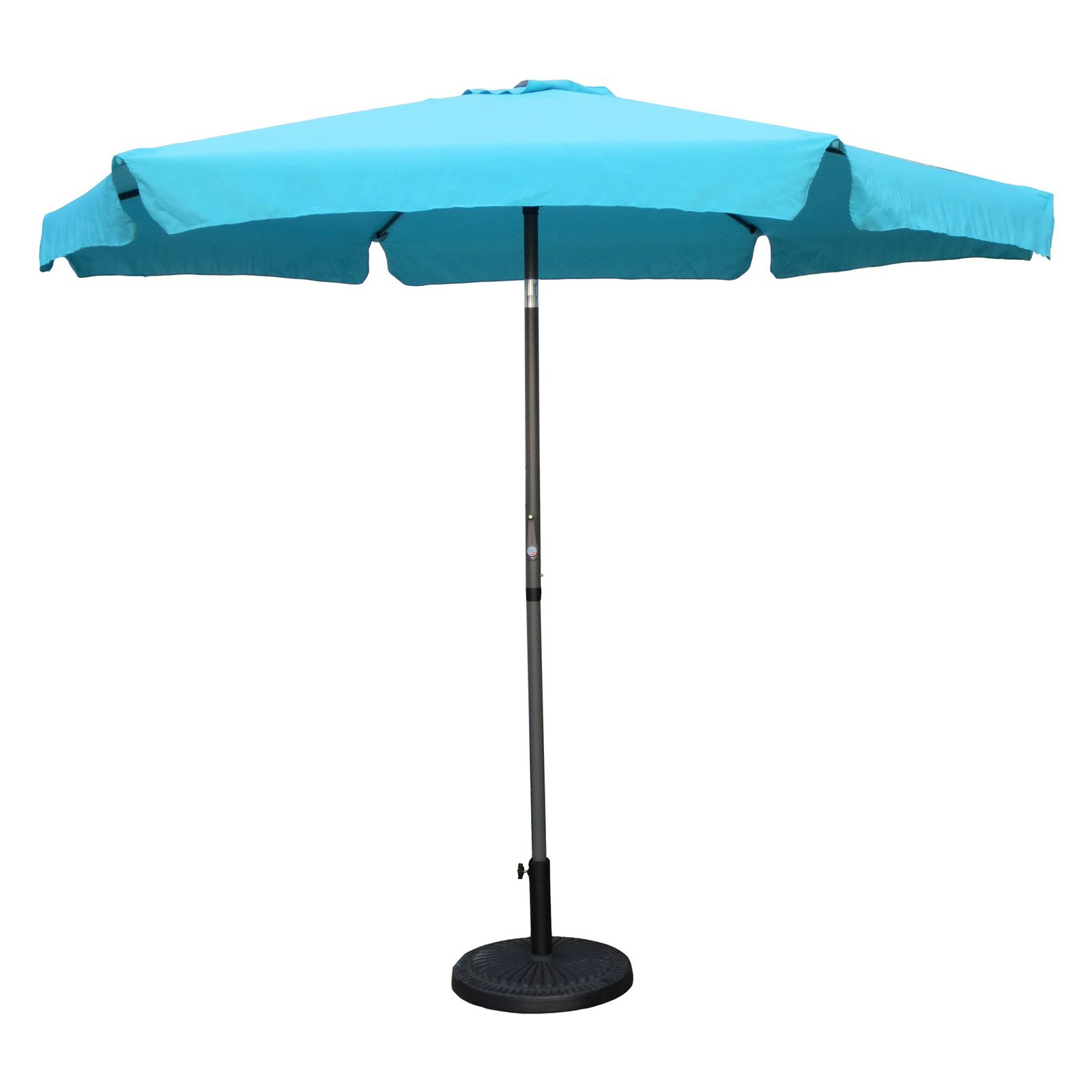 International Caravan St. Kitts 9 Ft. Aluminum Patio Umbrella With With Popular Hyperion Market Umbrellas (Gallery 13 of 20)