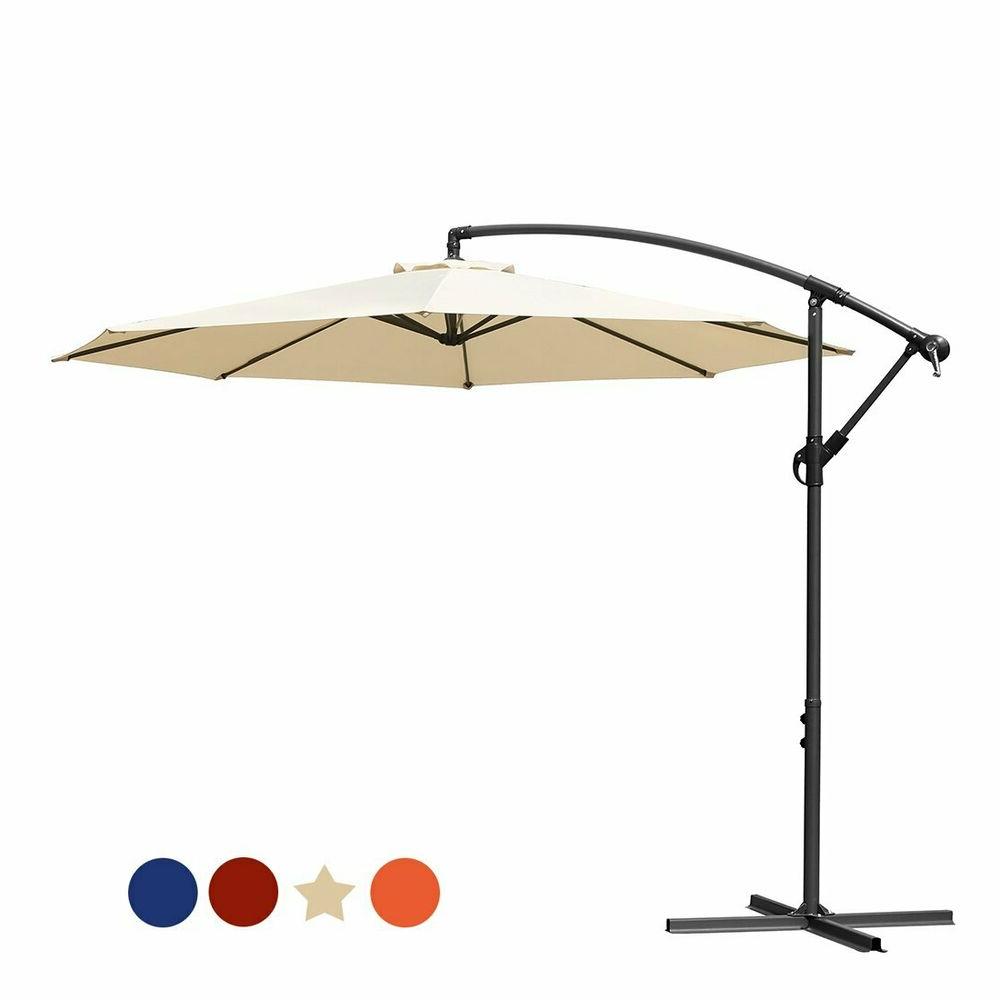 Irven Cantilever Umbrellas With Regard To Most Popular Offset Umbrella 10 – Caldwellcountytxoem (View 16 of 20)
