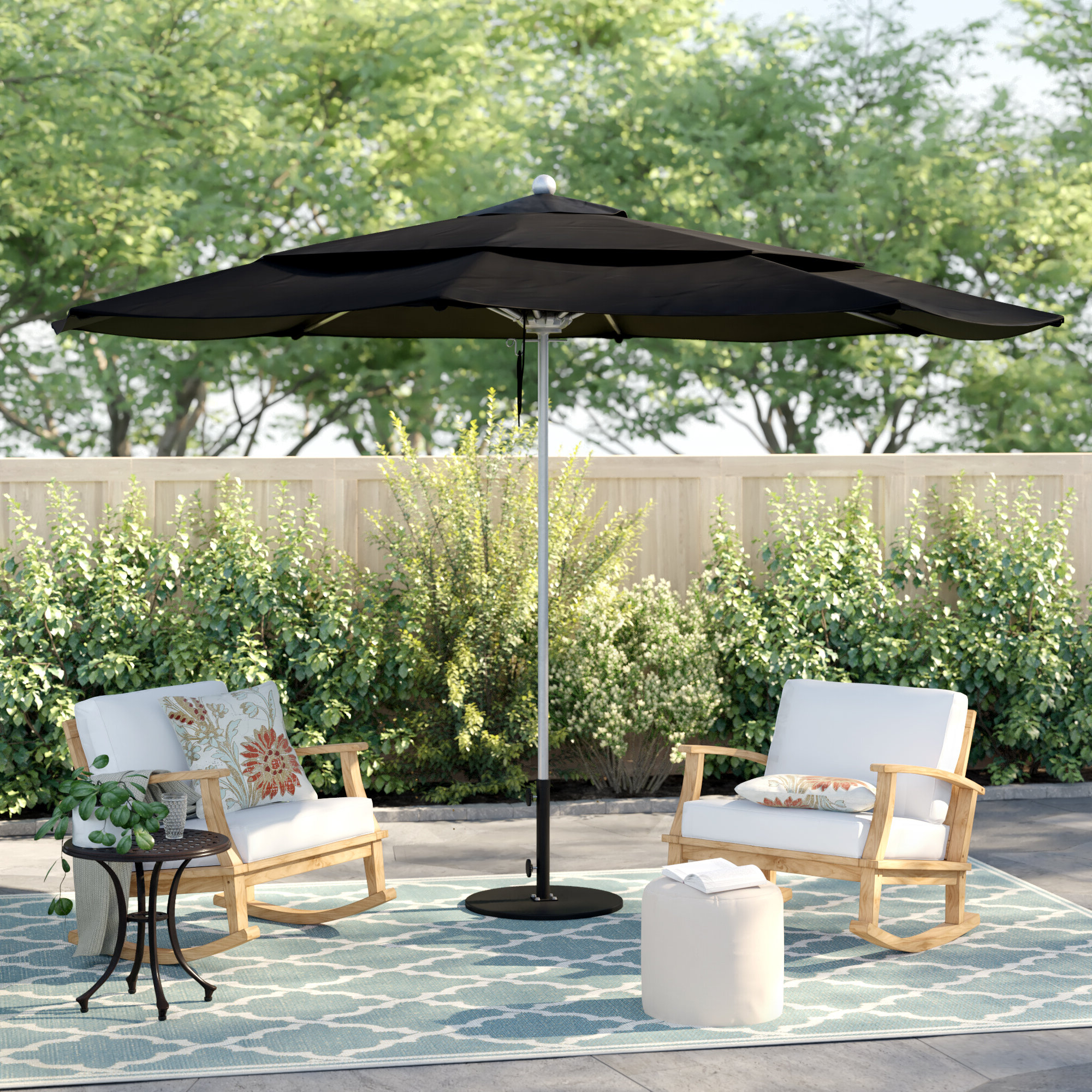 Isom Market Umbrellas With Regard To Preferred Caravelle 11' Market Umbrella (Gallery 16 of 20)