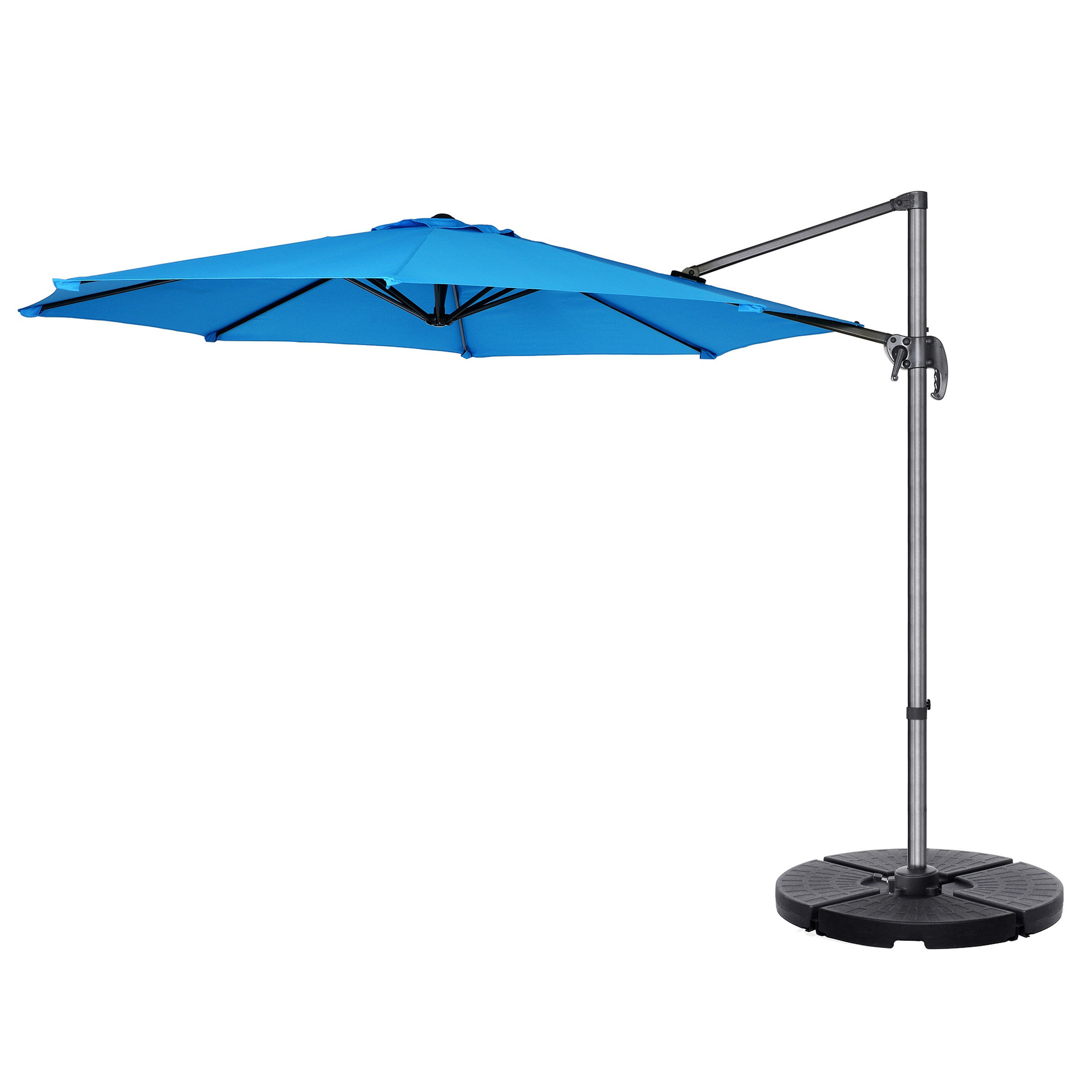 Iyanna Cantilever Umbrellas Intended For Widely Used Cockermouth Rotating 10' Cantilever Umbrella (View 8 of 20)