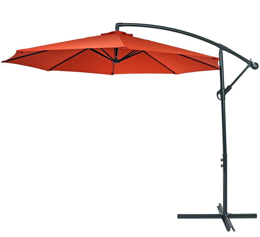 Iyanna Cantilever Umbrellas With Regard To Latest Raymundo 10.5' Cantilever Umbrella (Gallery 6 of 20)