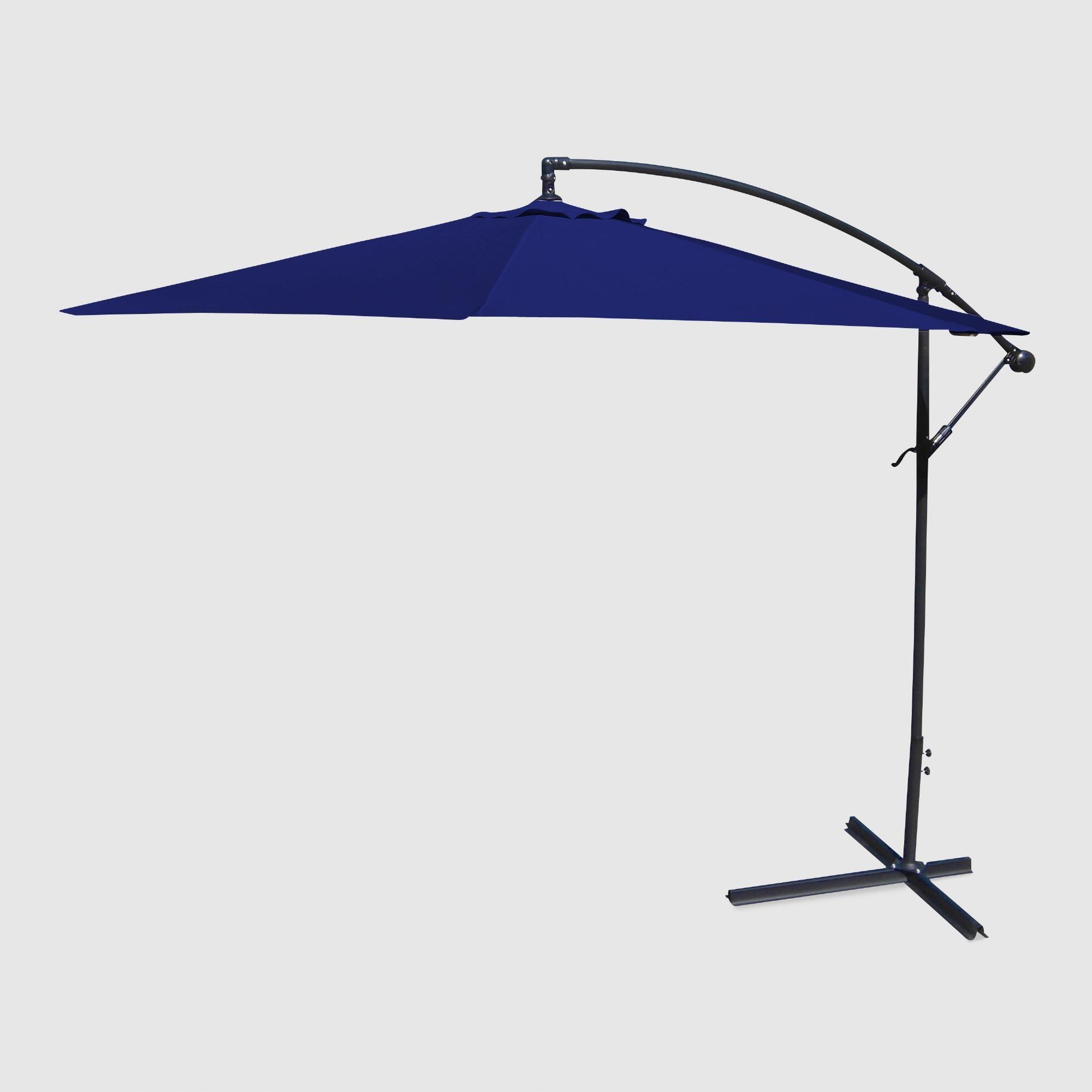 Jaelynn Cantilever Umbrellas Regarding Most Recent Navy Blue Cantilever Outdoor Patio Umbrella – Fabricworld Market (View 20 of 20)