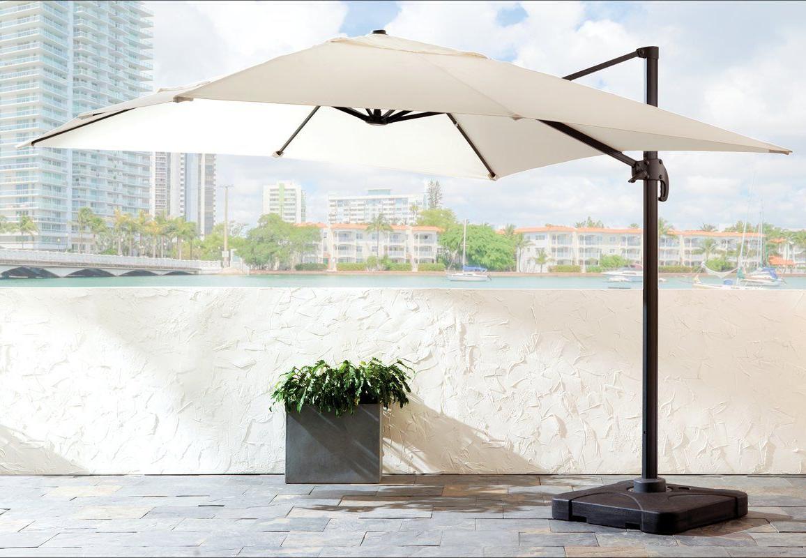 Jendayi Square Cantilever Umbrellas In 2019 Boracay 10' Square Cantilever Umbrella (Gallery 14 of 20)