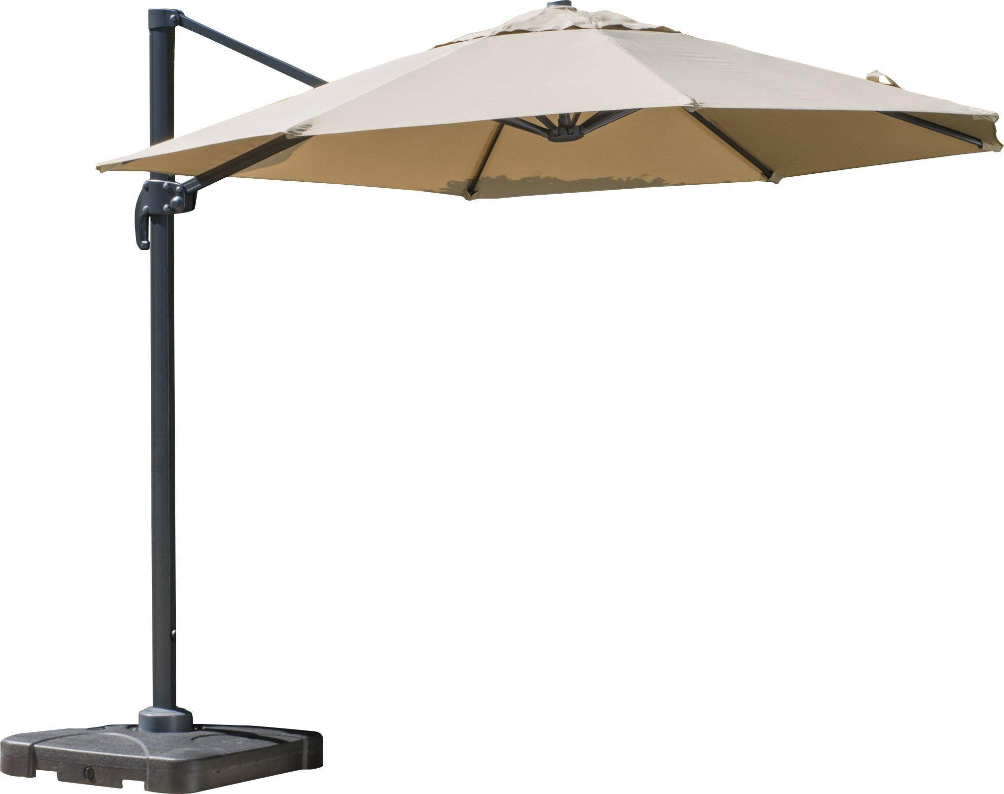 Jendayi Square Cantilever Umbrellas Inside Trendy Bellana Cantilever Umbrella (View 3 of 20)