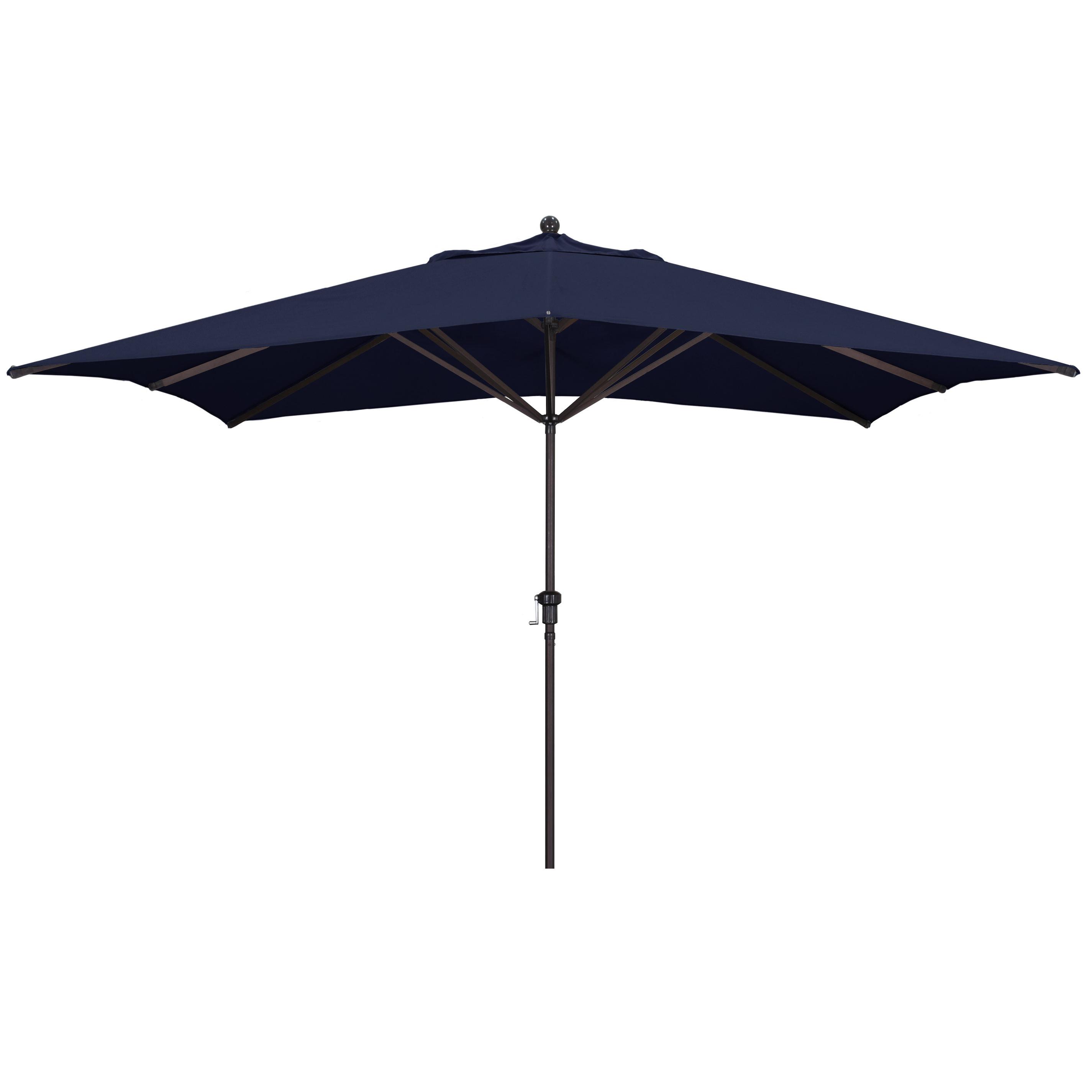 Jerrell Rectangular Market Umbrellas Intended For 2019 Carlton 11' X 8' Rectangular Market Umbrella (View 8 of 20)