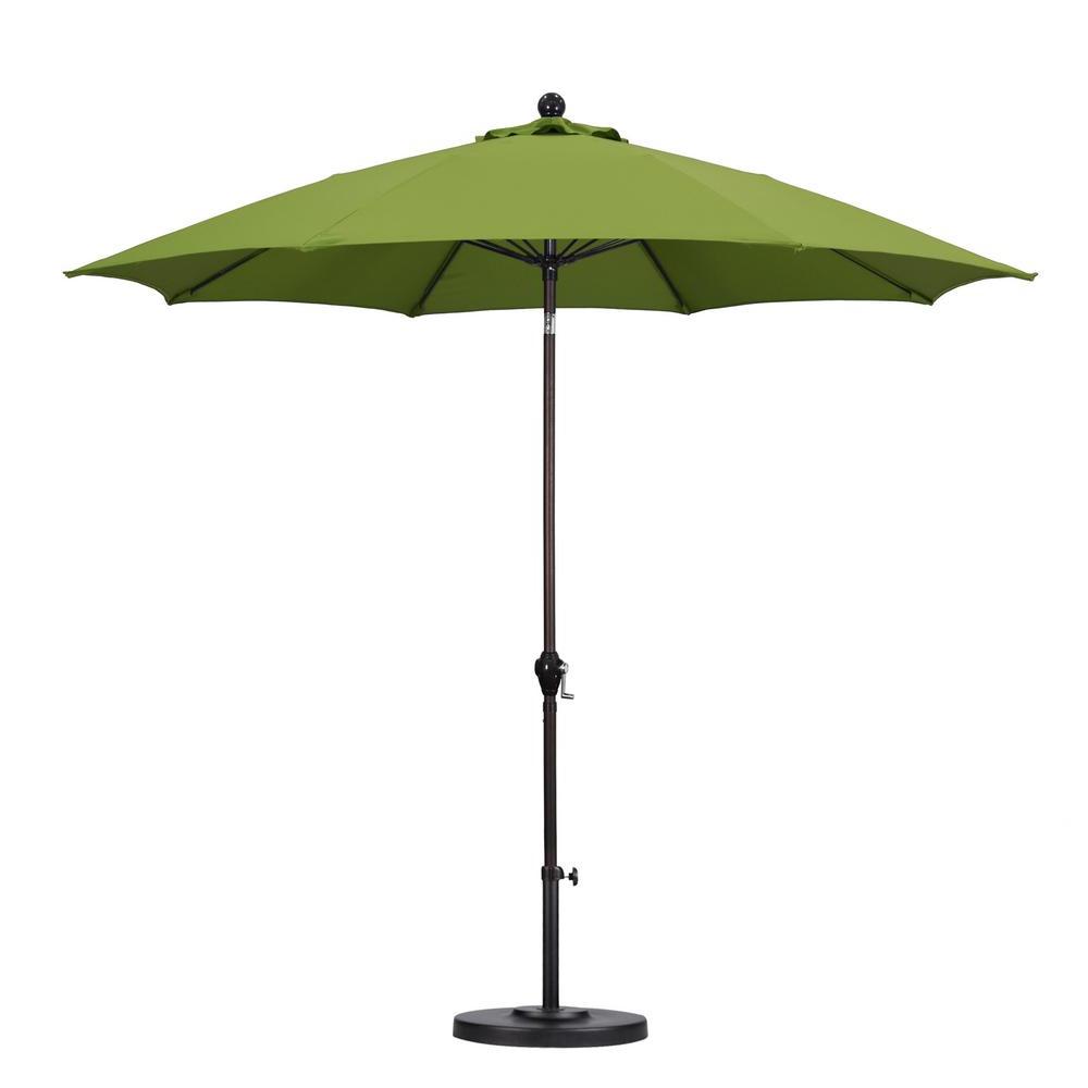 Jerrell Rectangular Market Umbrellas With Most Popular Patio Umbrella Green – Qasync – (Gallery 16 of 20)