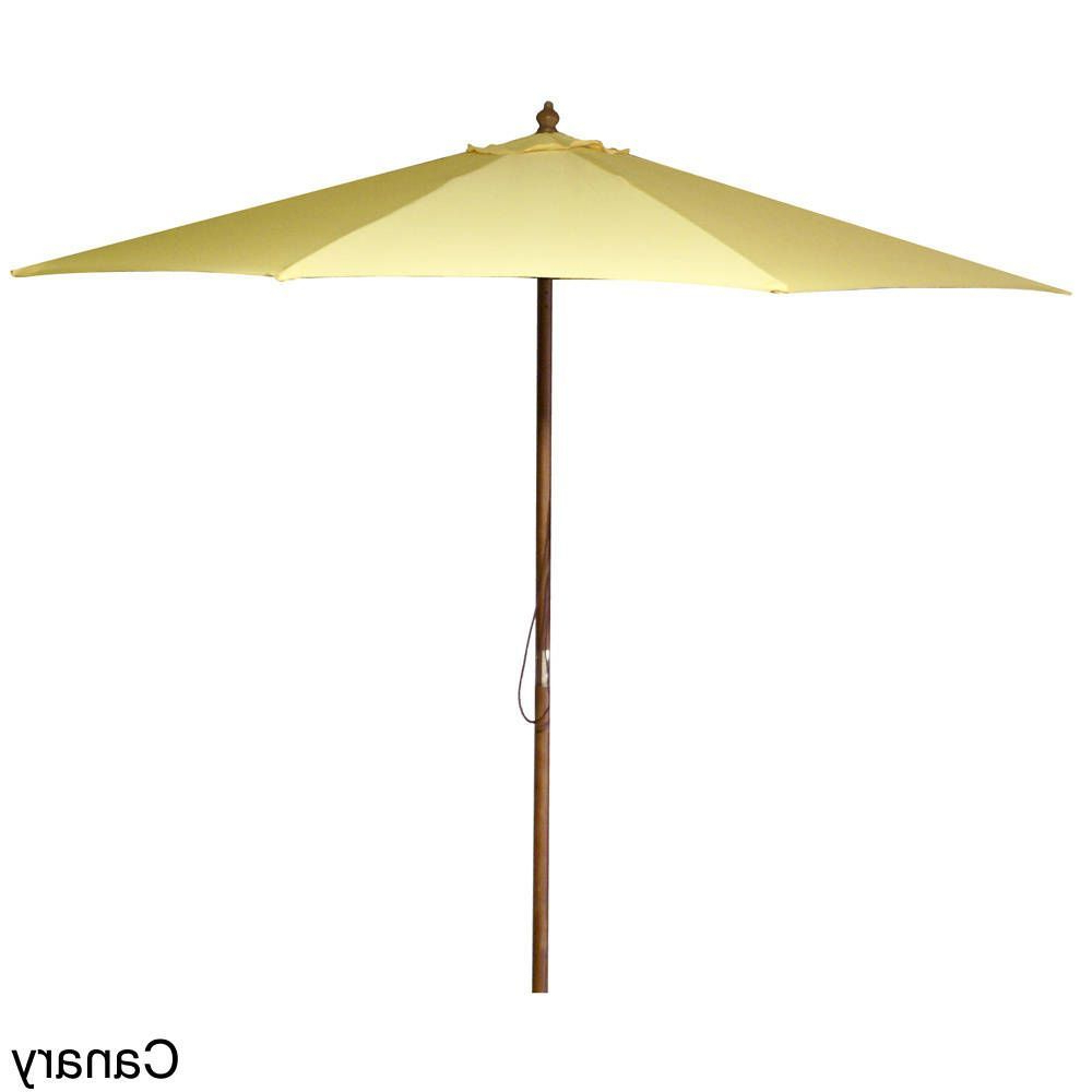 Jordan Manufacturing 9 Foot Wooden Market Umbrella (Canary), Yellow Inside Best And Newest Solid Market Umbrellas (View 6 of 20)