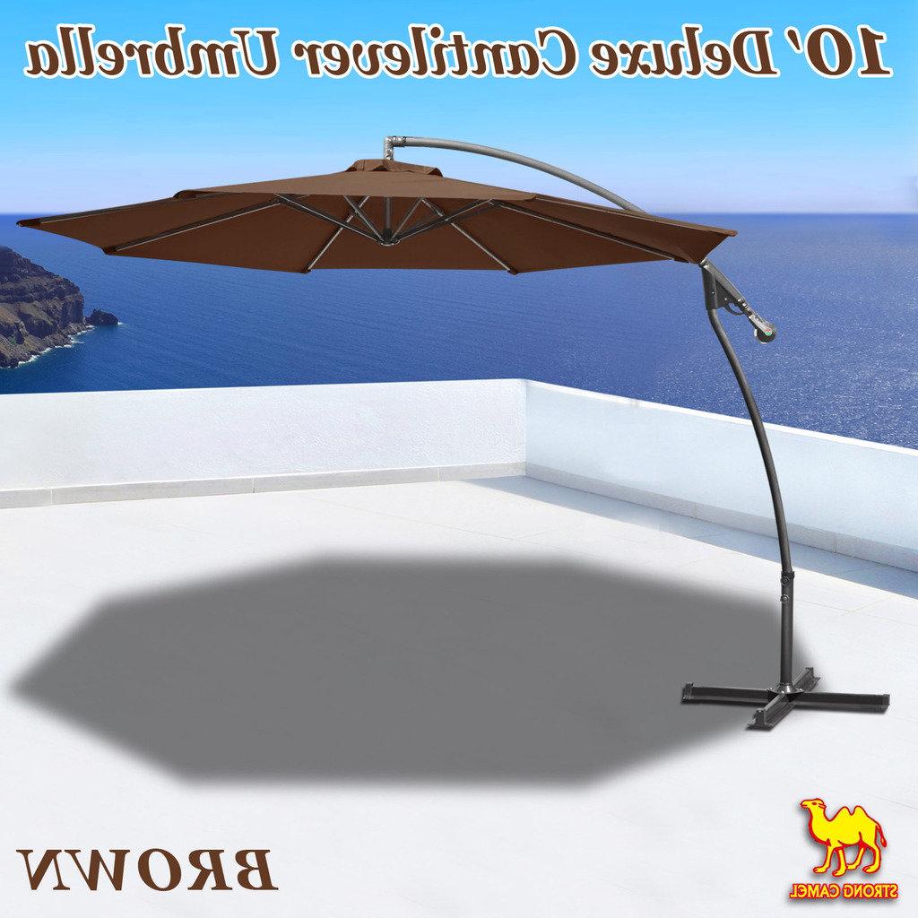 Judah Cantilever Umbrellas Pertaining To Most Popular Latitude Run Tallulah Sunshade Hanging Outdoor 10' Cantilever Umbrella (View 19 of 20)