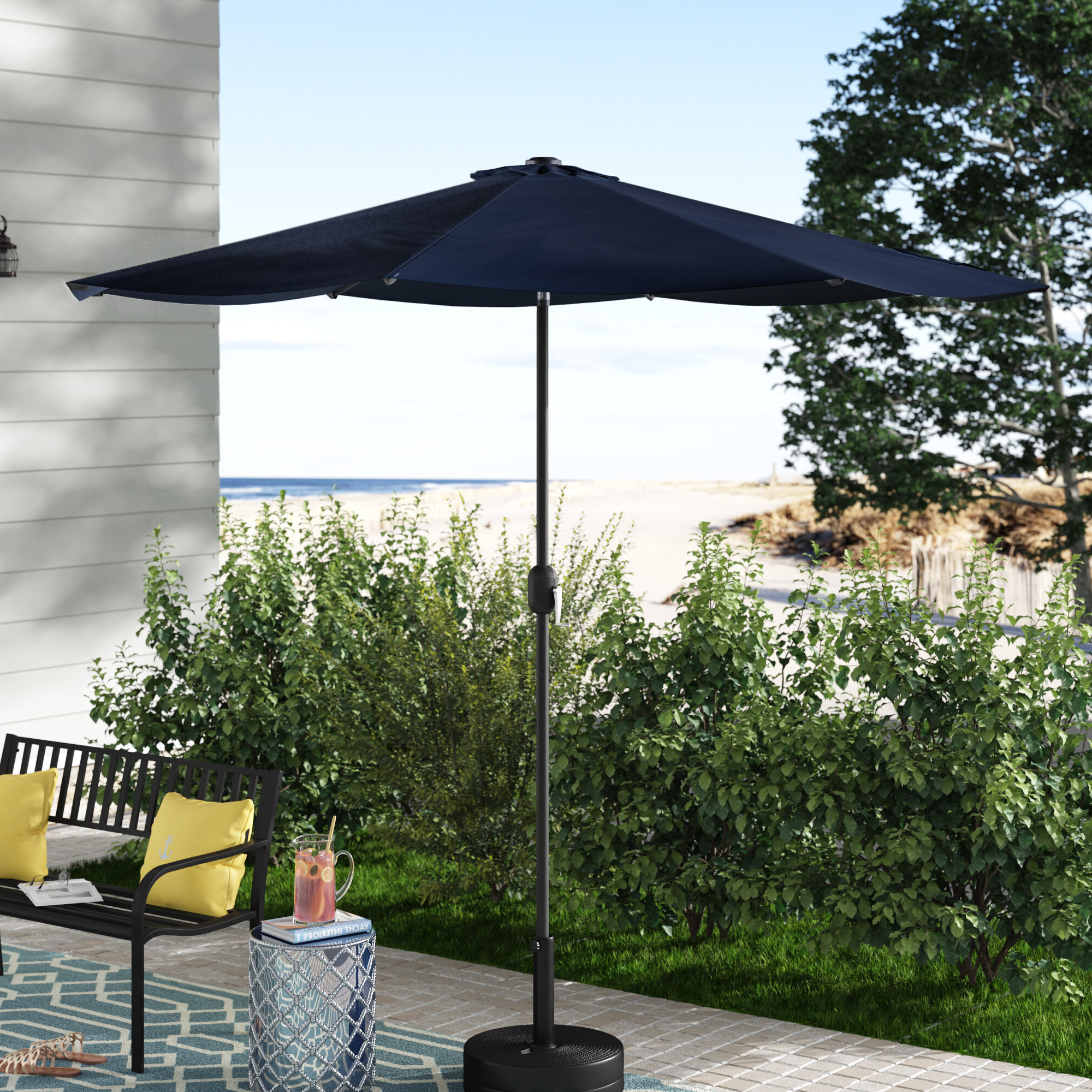 Julian 9' Market Sunbrella Umbrella Pertaining To Best And Newest Keltner Patio Outdoor Market Umbrellas (View 5 of 20)