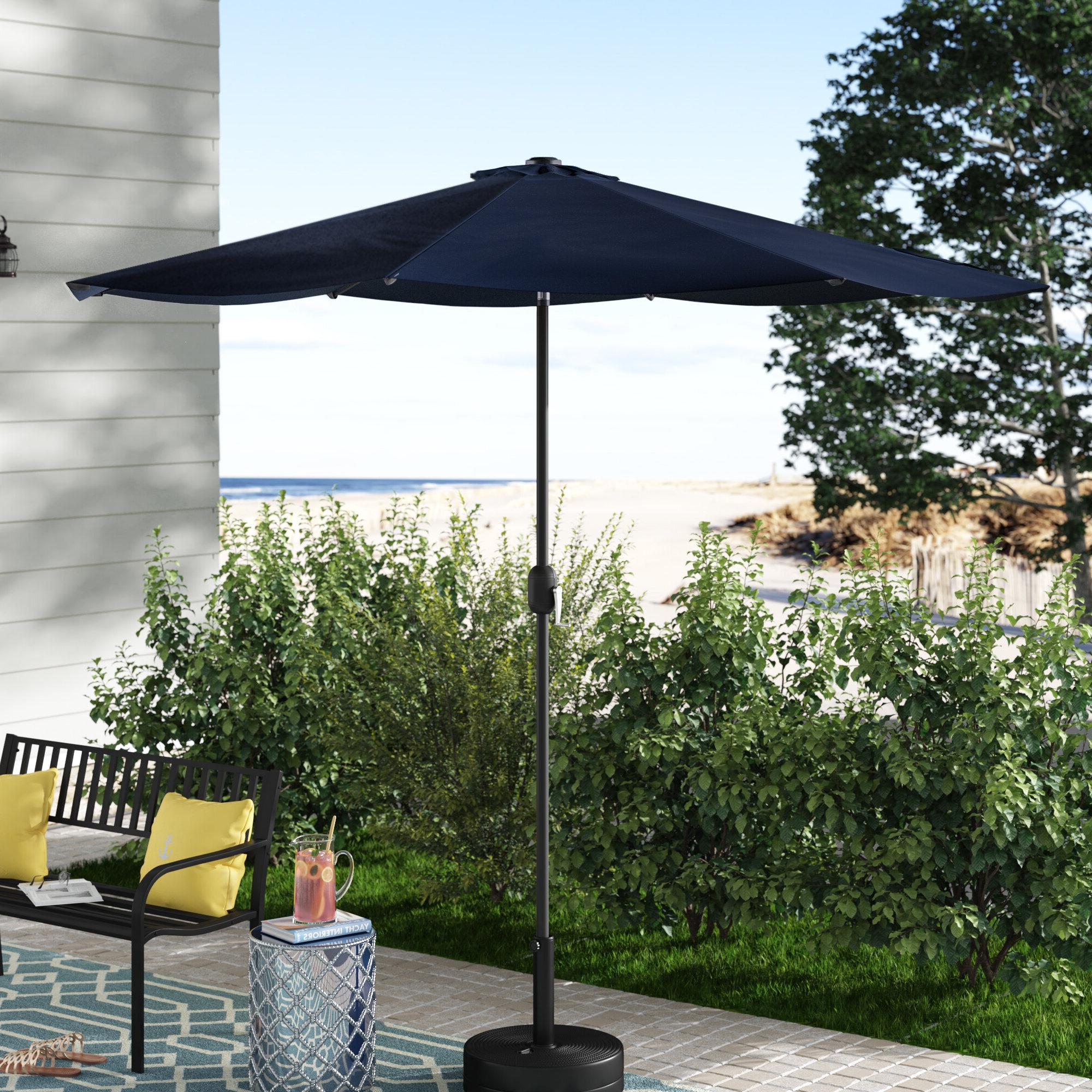 Julian 9' Market Sunbrella Umbrella Regarding 2019 Wiechmann Market Sunbrella Umbrellas (Gallery 7 of 20)