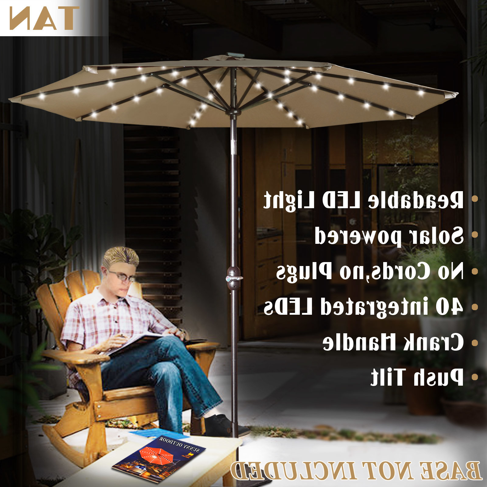 Kaczmarek 9' Market Umbrella Within Famous Herlinda Solar Lighted Market Umbrellas (Gallery 14 of 20)