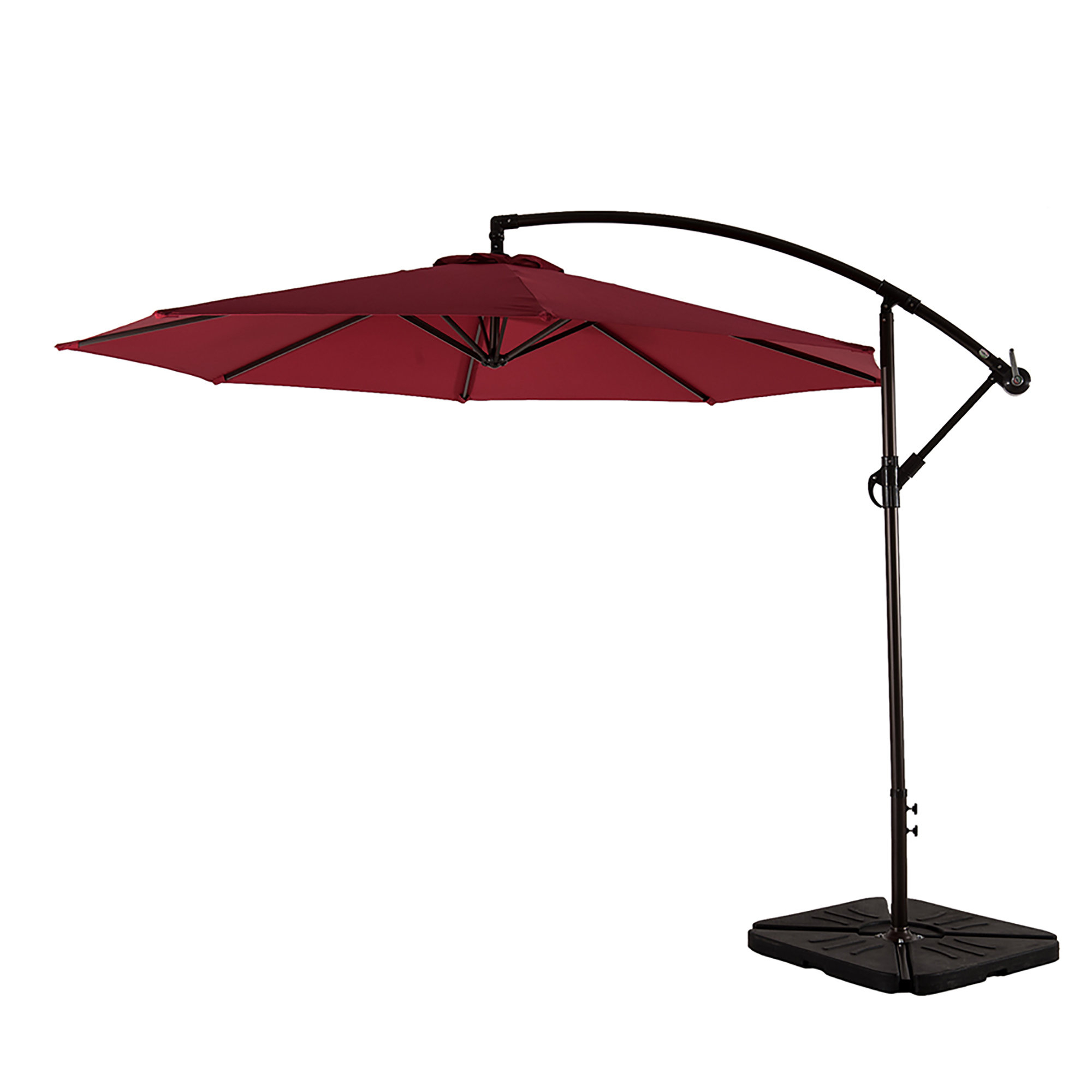 Karr 10' Cantilever Umbrella Intended For 2019 Bormann Cantilever Umbrellas (Gallery 9 of 20)
