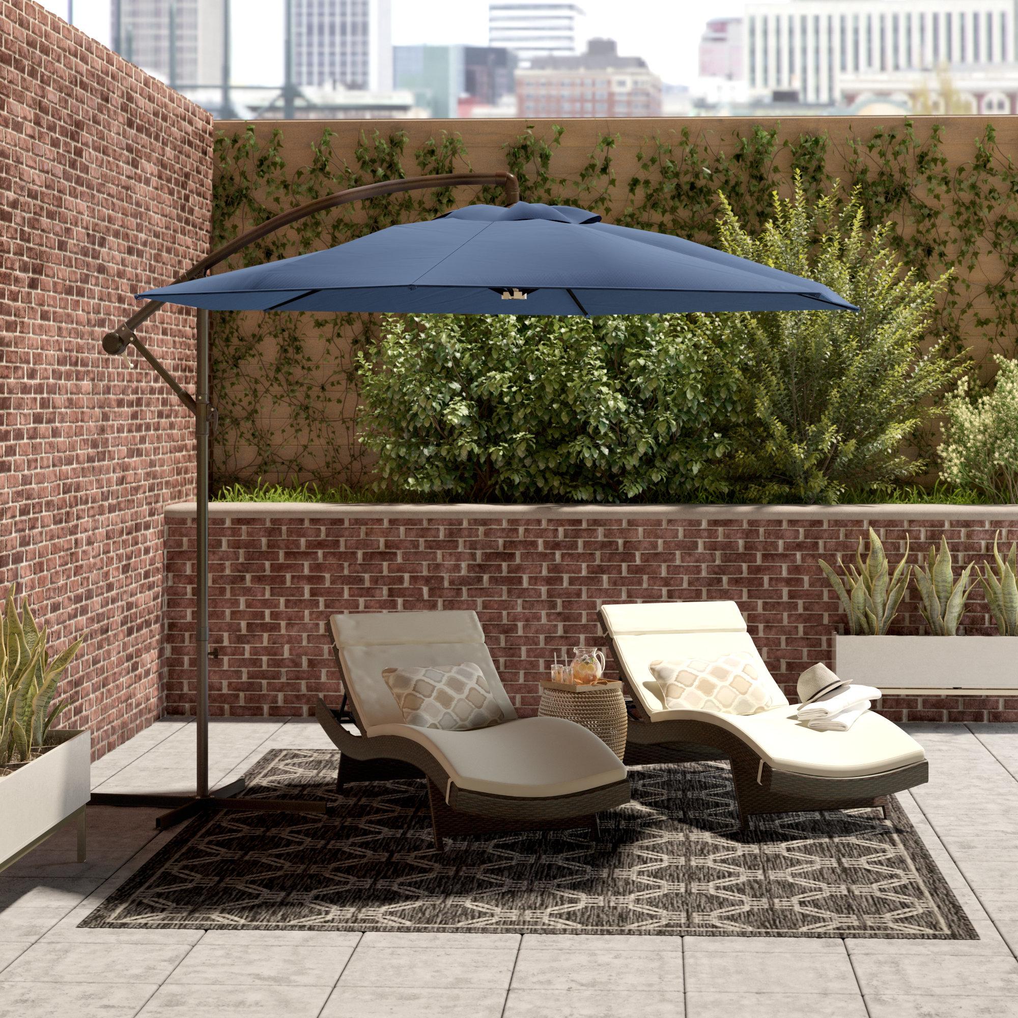 Karr Cantilever Umbrellas In Famous Latitude Run 10' Cantilever Umbrella & Reviews (View 9 of 20)