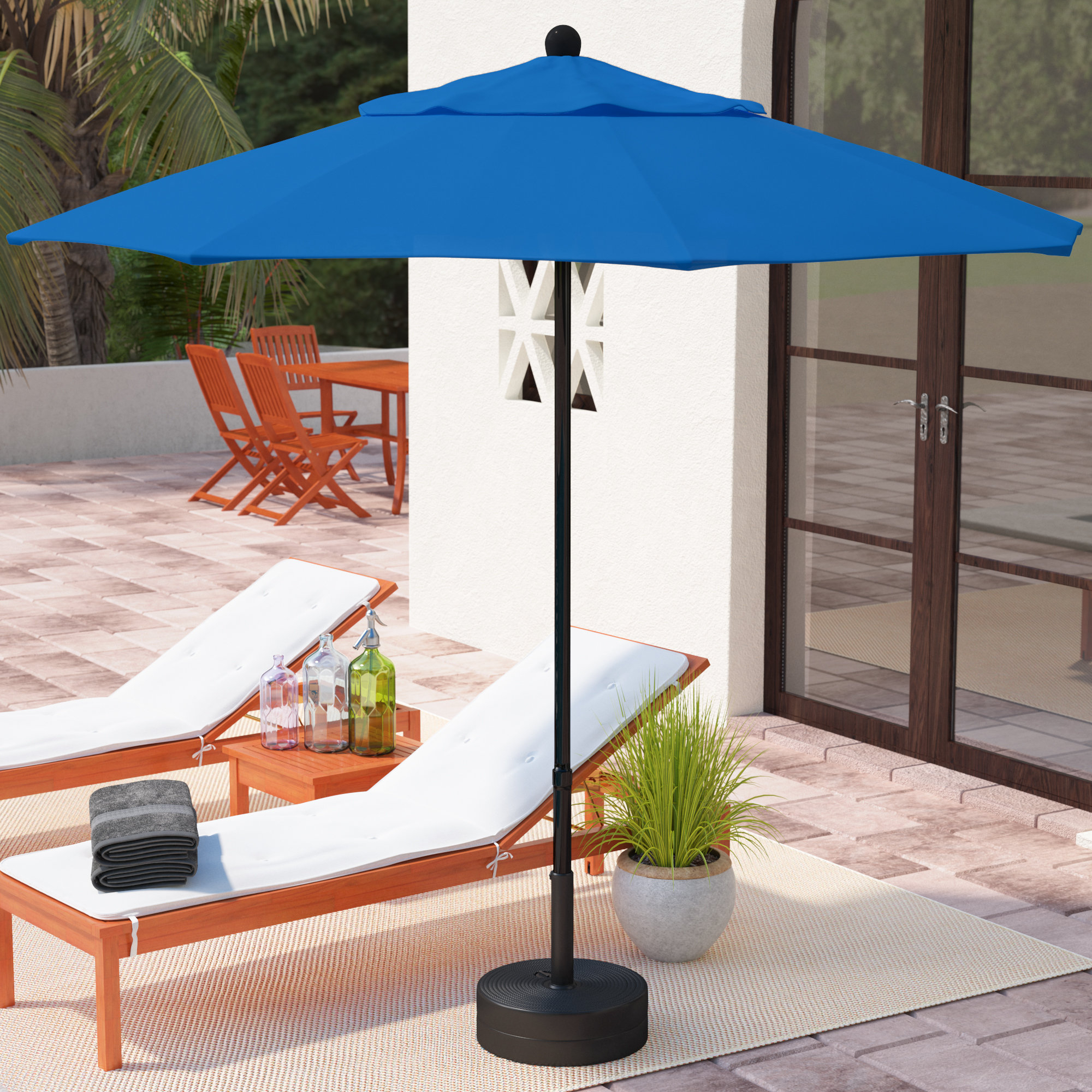 Keegan Market Umbrellas Regarding Well Known Ryant 7.5' Market Umbrella (Gallery 17 of 20)