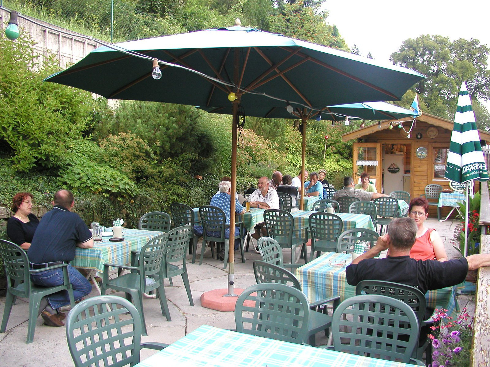 Keltner Patio Outdoor Market Umbrellas With Favorite Landgasthaus Zur Mühle – Naturpark Altmühltal (View 17 of 20)